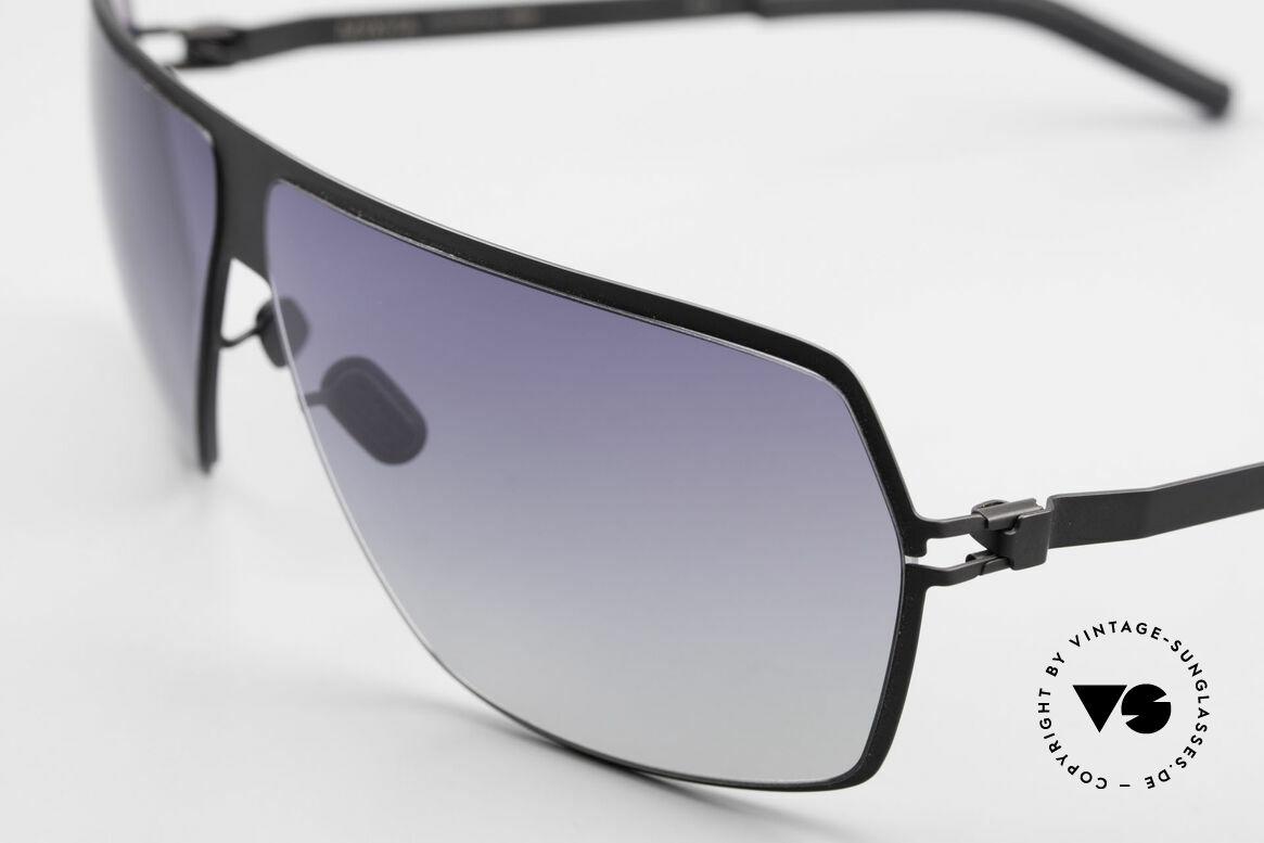 Mykita Rock No1 Herren Sonnenbrille 2009, flexible Metallbrille; innovativ & elegant gleichermaßen, Passend für Herren