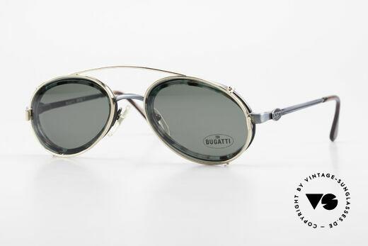 Bugatti 05728T 90er Herrenbrille Sonnen Clip Details