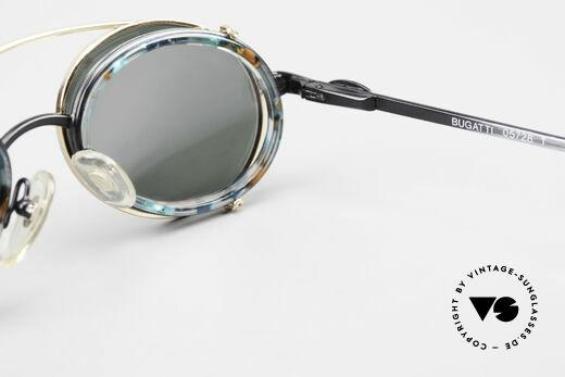 Bugatti 05728T 90er Herrenbrille Sonnen Clip, Größe: medium, Passend für Herren
