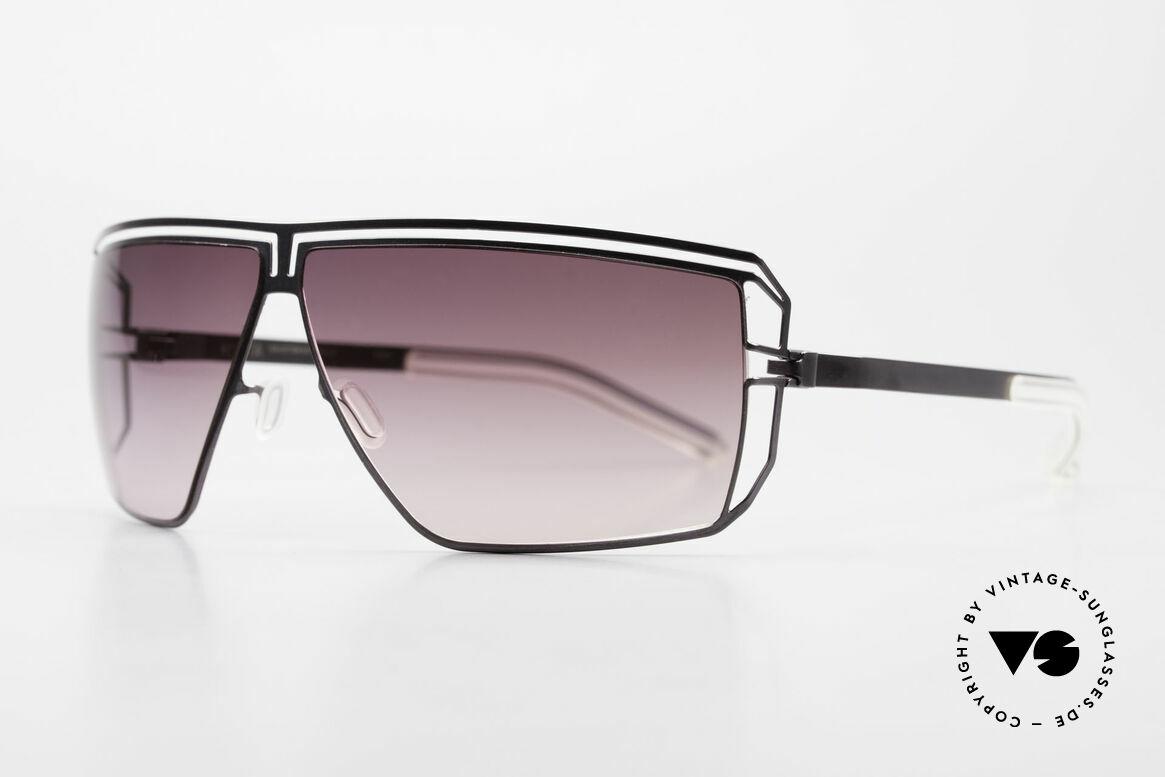 Mykita Anais Designer Sonnenbrille von 2007, Model No.1 Anais Purple, purple-gradient, Größe 64/8, Passend für Damen