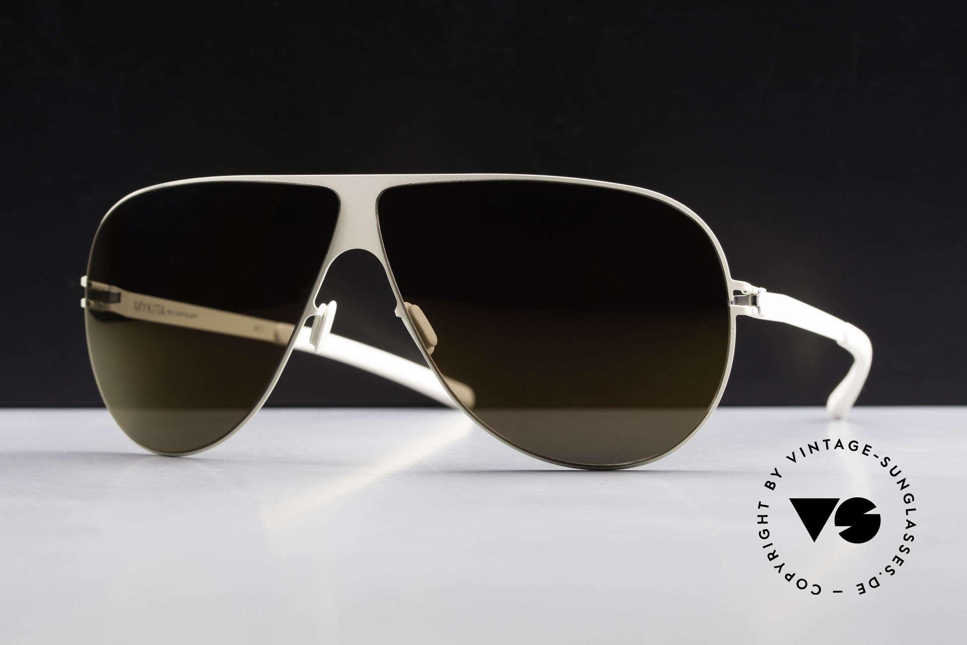 Mykita Elliot Tom Cruise Mykita Sonnenbrille, Model No.1 Sun Elliot Offwhite, brown-flash, Gr. 68/07, Passend für Herren