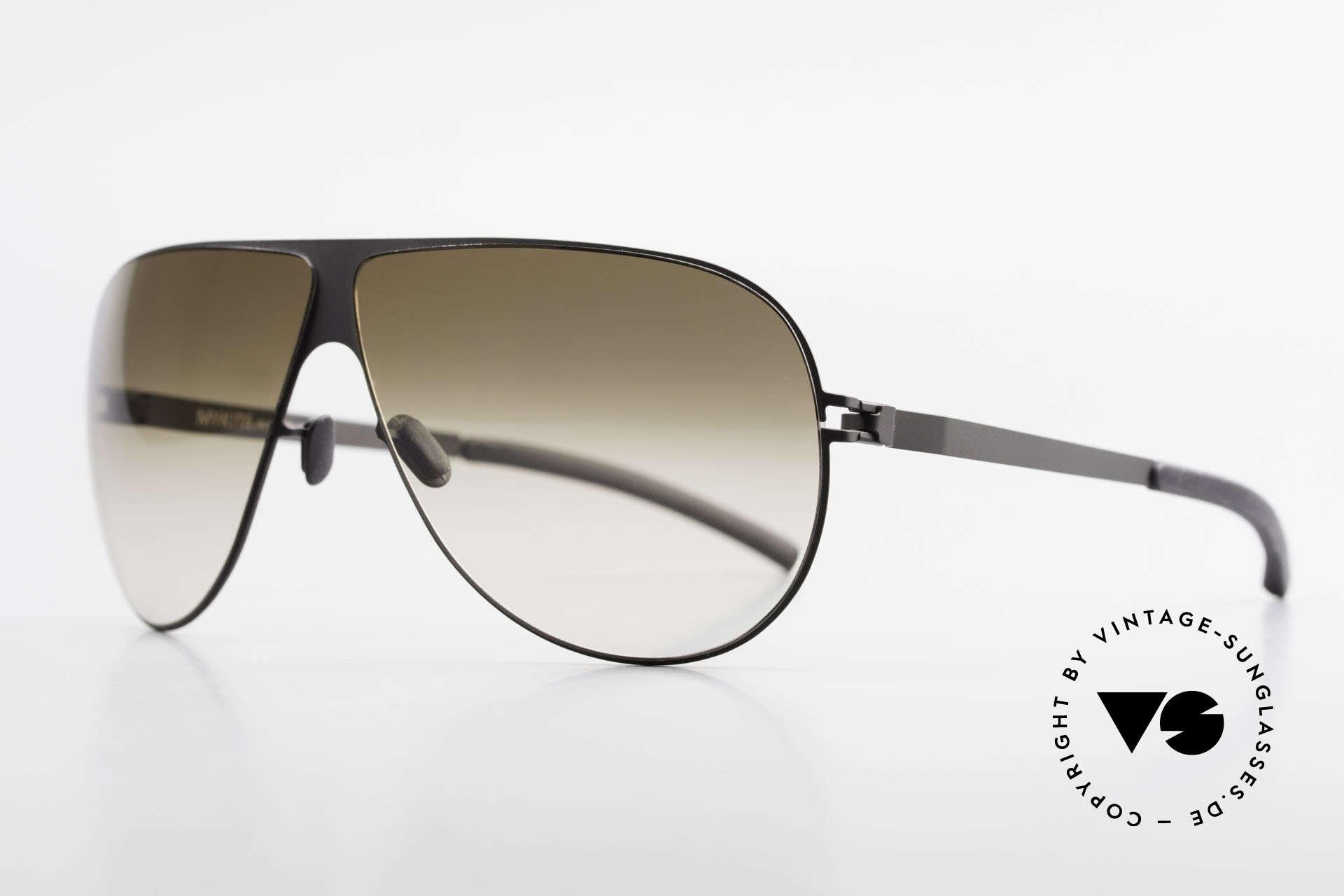 Mykita Elliot Mykita Tom Cruise Sonnenbrille, Mod. No.1 Sun Elliot Black, brown-gradient flash, 68/07, Passend für Herren