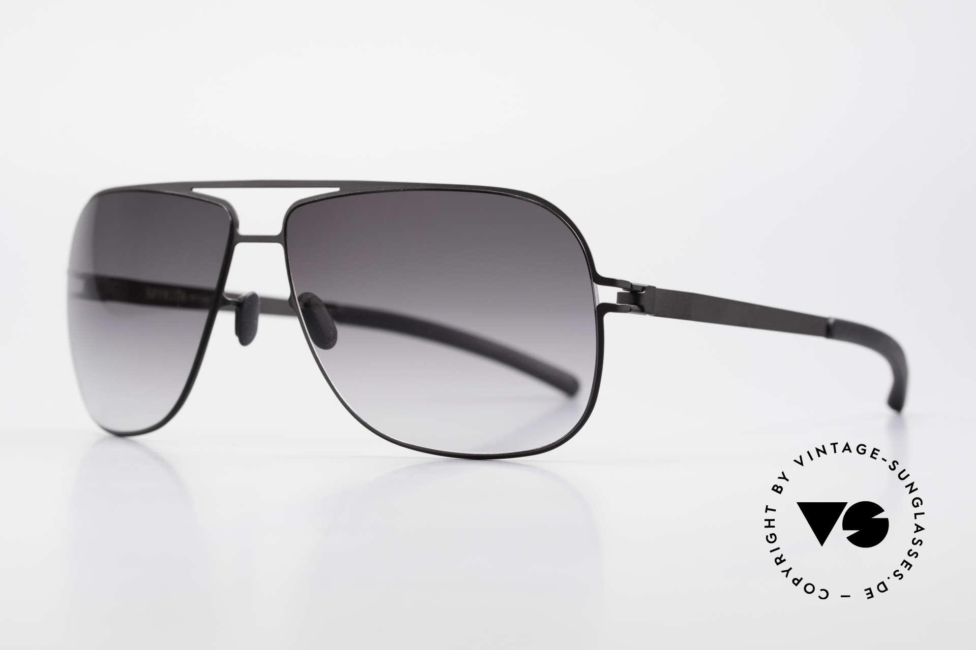 Mykita Rolf Brad Pitt Mykita Sonnenbrille, Model No.1 Sun Rolf Black, gray-gradient, in Gr. 59/12, Passend für Herren und Damen