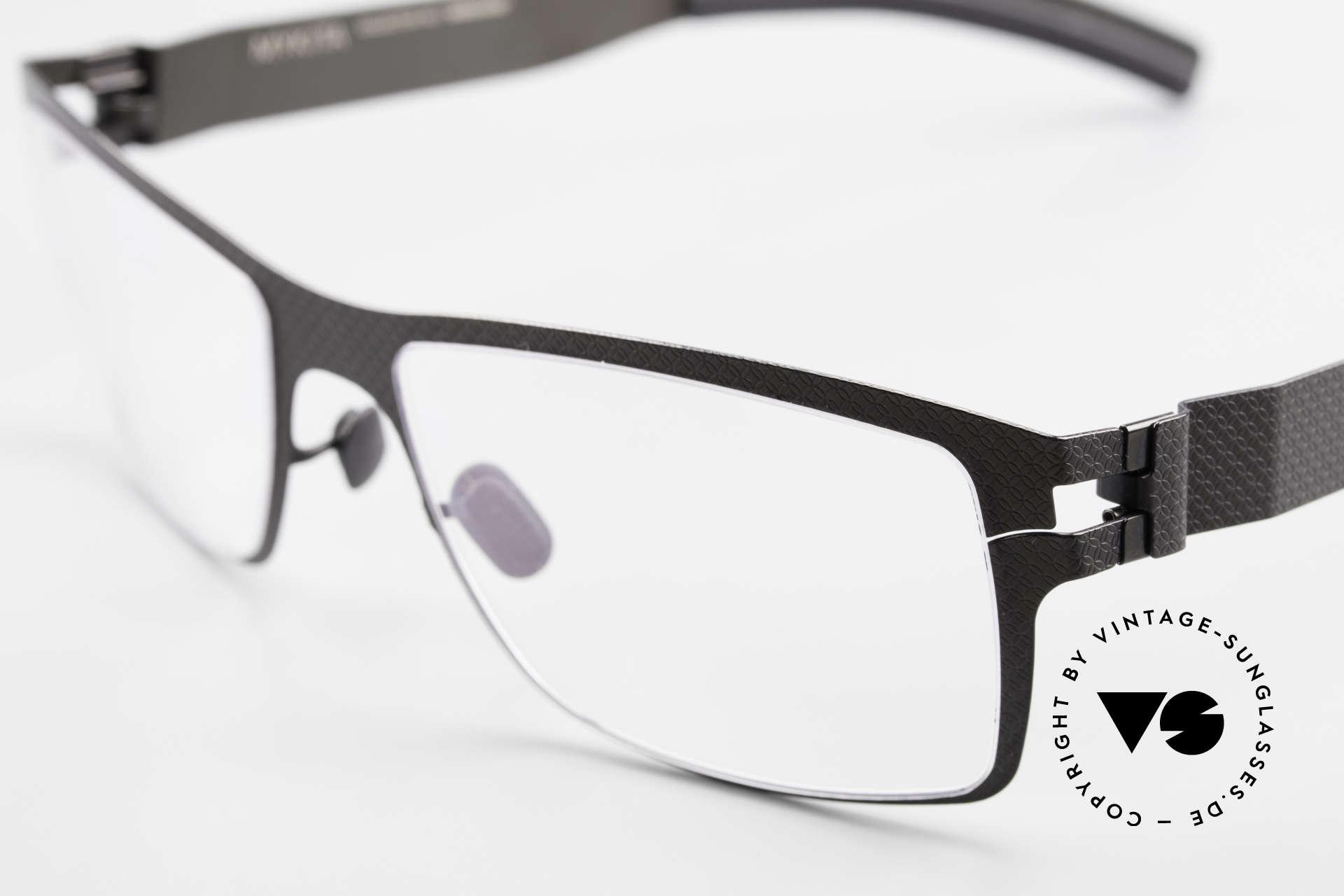Mykita Bernhard Vintage Mykita Brille von 2009, innovativ flexible Metallfassung: eine Größe passt allen, Passend für Herren