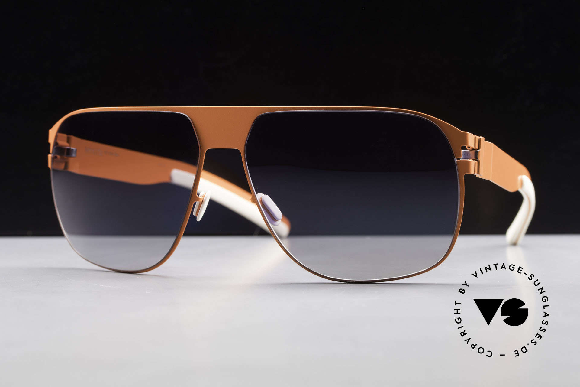 Mykita Tim Collection No 1 Sonnenbrille, Modell No.1 Sun Tim Neonorange, black gradient, 61/14, Passend für Herren