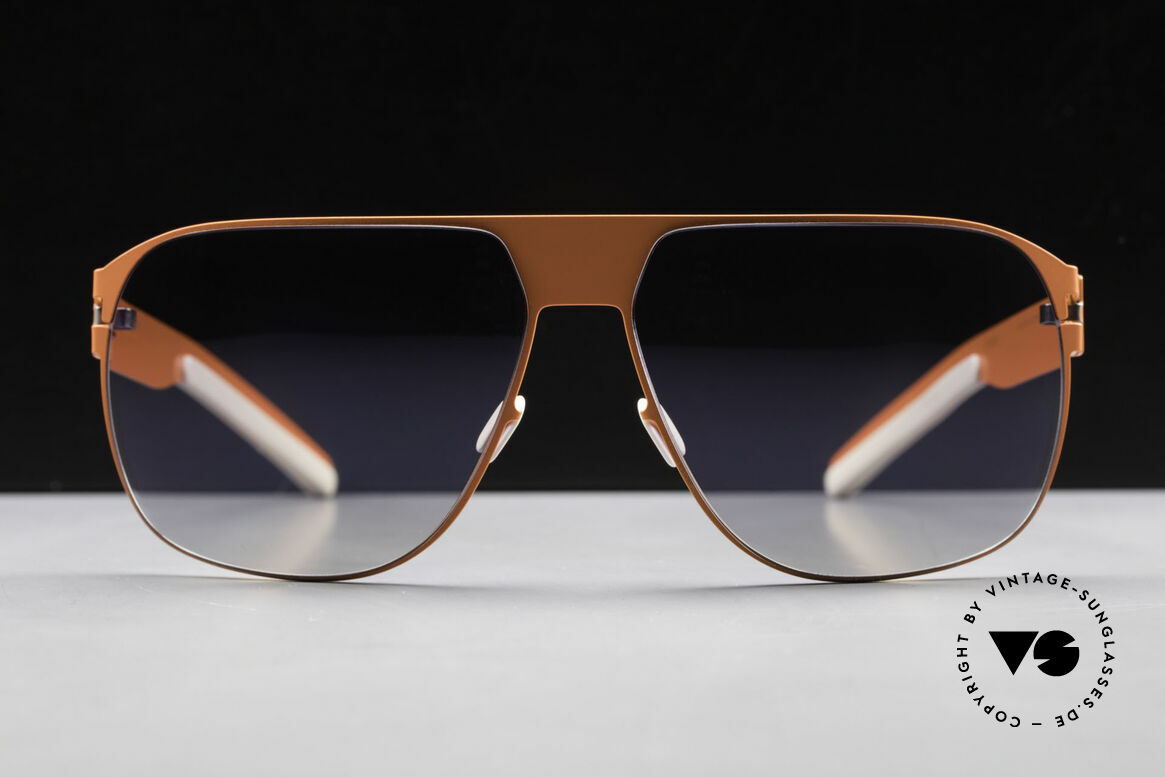 Mykita Tim Collection No 1 Sonnenbrille, innovativ flexible Metallfassung: eine Größe passt allen, Passend für Herren