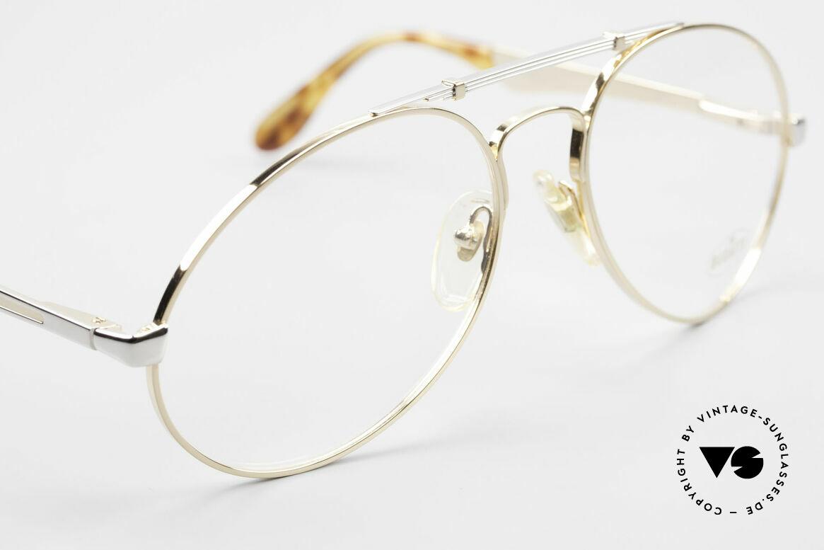 Bugatti 11948 Vergoldete Luxusbrille XL 80er, Rahmen gold/platin; Brücke wie eine Blattfeder, Passend für Herren