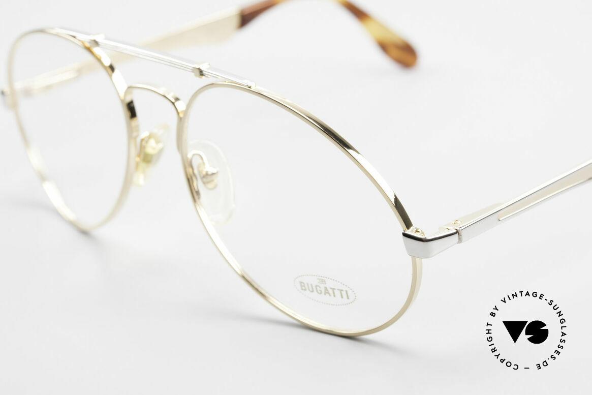 Bugatti 11948 Vergoldete Luxusbrille XL 80er, ungetragenes, sehr sehr edles Modell inkl. Etui, Passend für Herren