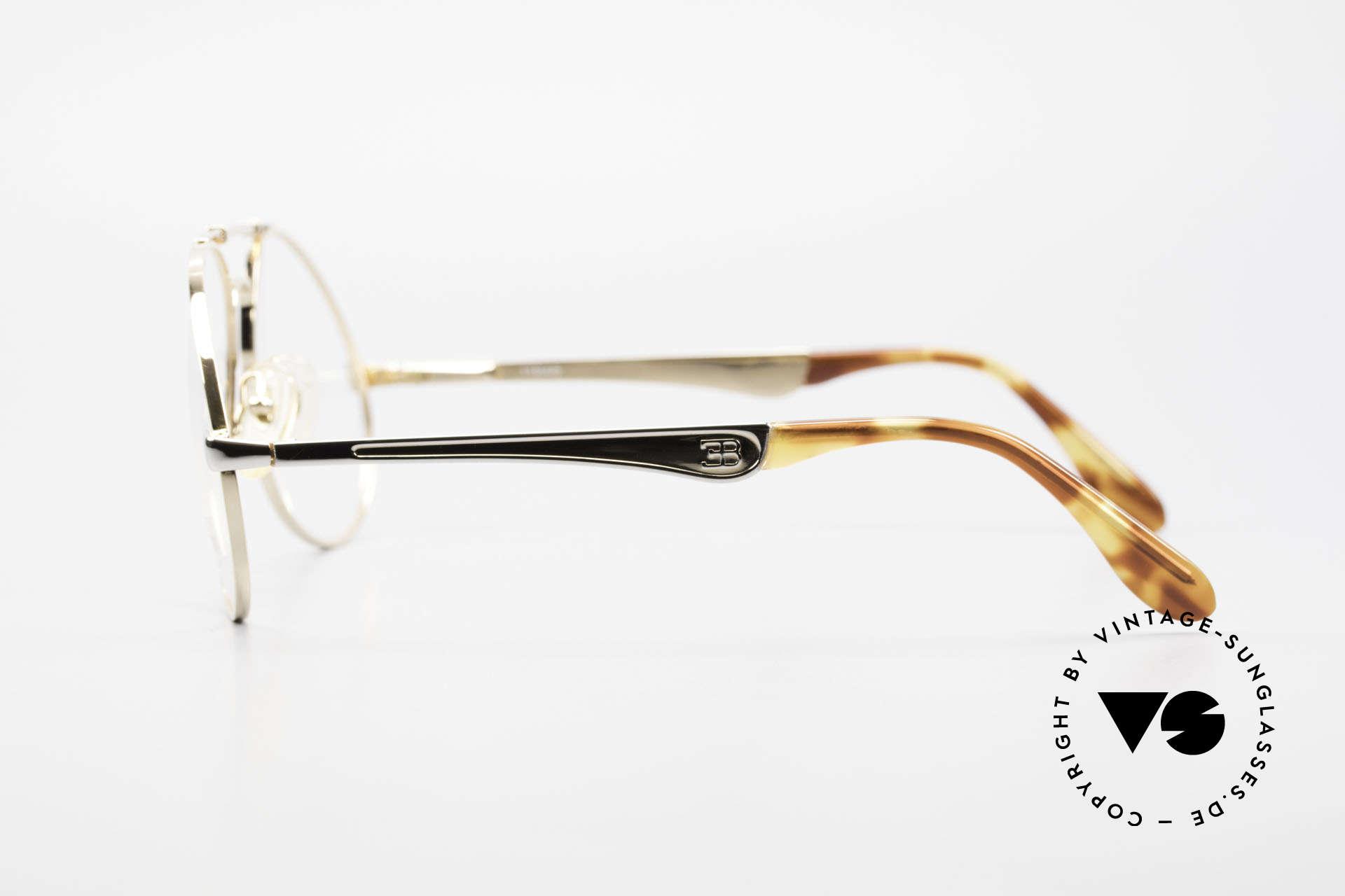 Bugatti 11948 Vergoldete Luxusbrille XL 80er, KEINE Retrobrille; sondern alte ORIGINALbrille, Passend für Herren