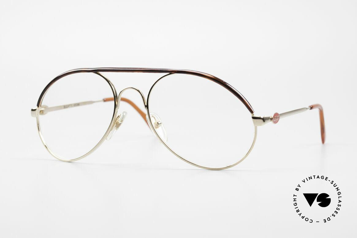 Bugatti 65986 80er Herren Brille Vergoldet, klassische BUGATTI Brillenfassung von 1985, Passend für Herren