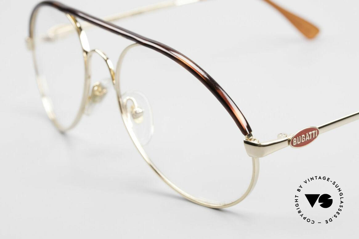 Bugatti 65986 80er Herren Brille Vergoldet, Gr.54: die Medium bis Large Größe von Bugatti, Passend für Herren