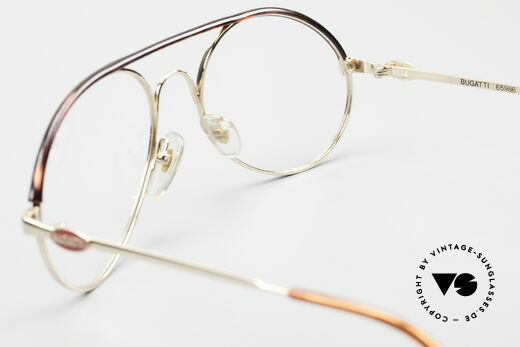 Bugatti 65986 80er Herren Brille Vergoldet, KEINE Retrobrille; sondern ein altes ORIGINAL, Passend für Herren