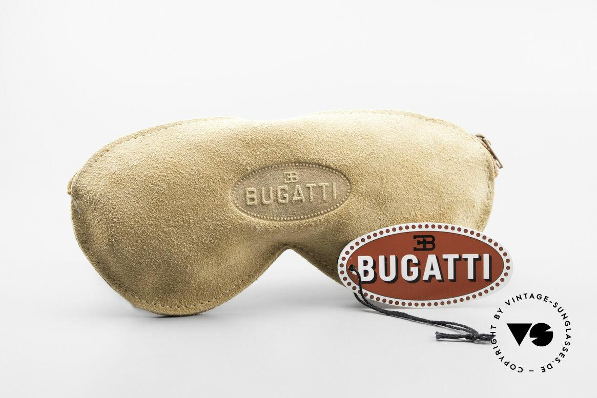 Bugatti 65986 80er Herren Brille Vergoldet, die Metallfassung kann beliebig verglast werden, Passend für Herren