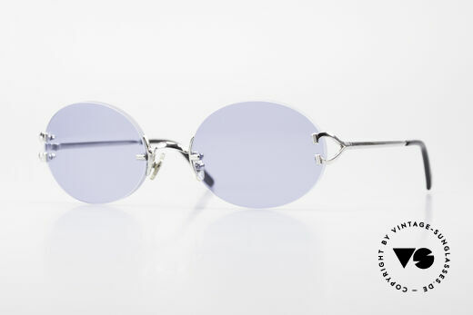 Cartier Rimless Giverny Ovale Randlose Luxusbrille Details
