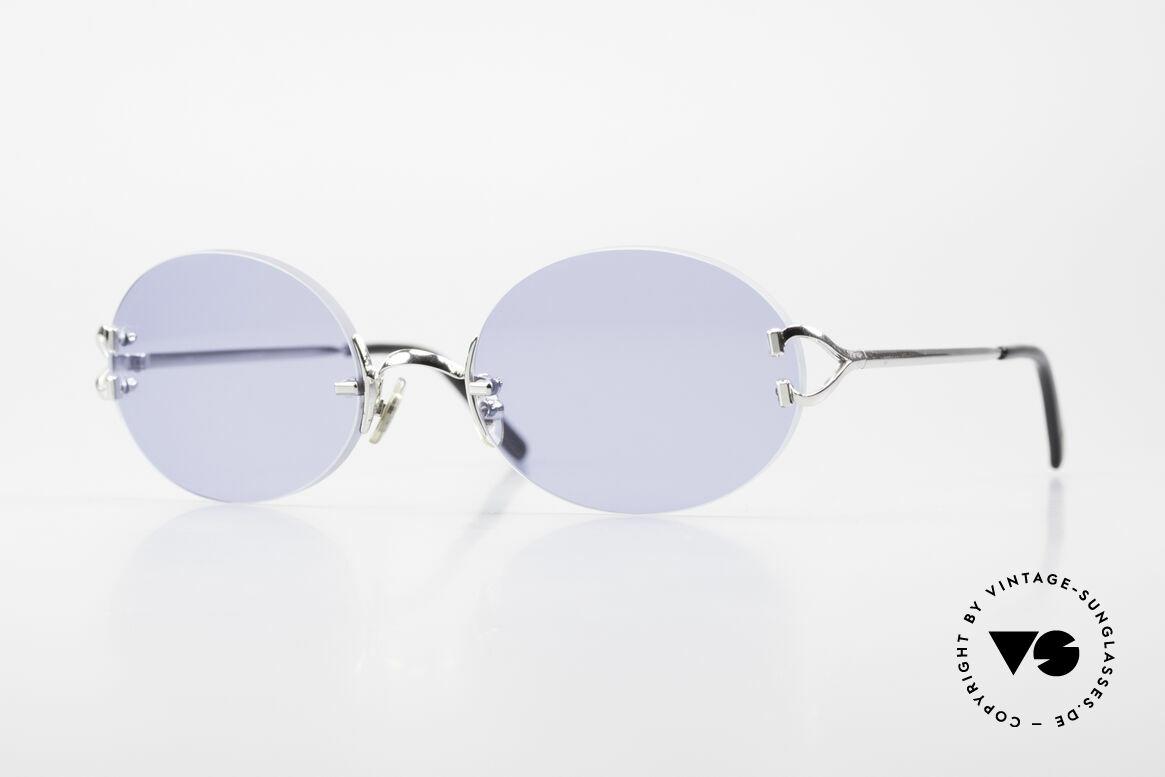 Cartier Rimless Giverny Ovale Randlose Luxusbrille, edle, ovale randlose Cartier Sonnenbrille von 1999, Passend für Herren und Damen
