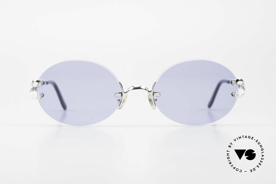 Cartier Rimless Giverny Ovale Randlose Luxusbrille, Modell der Rimless Serie mit neuen ovalen Gläsern, Passend für Herren und Damen