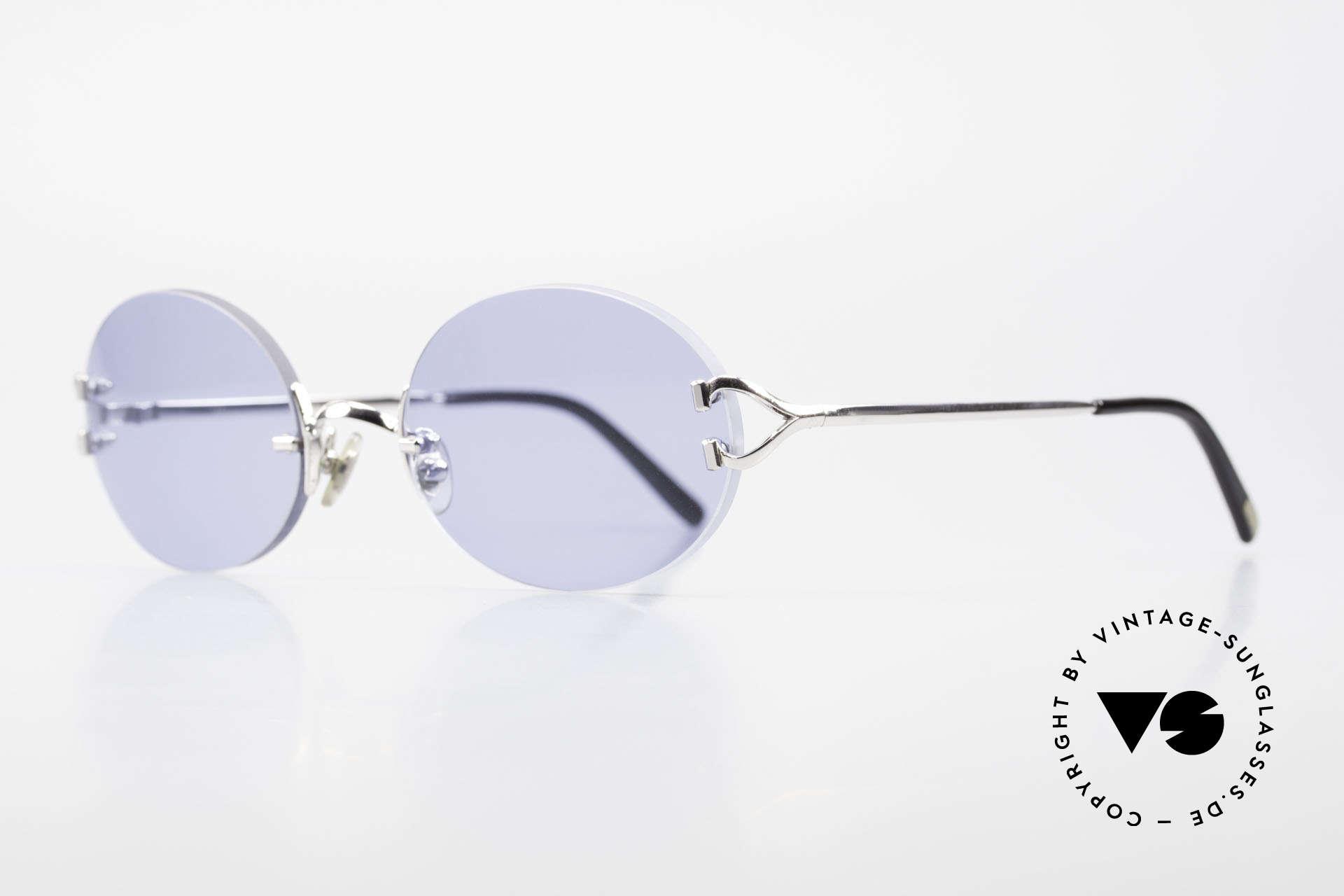 """Cartier Rimless Giverny Ovale Randlose Luxusbrille, Glasform ist identisch der """"Giverny"""" in 53mm Größe, Passend für Herren und Damen"""