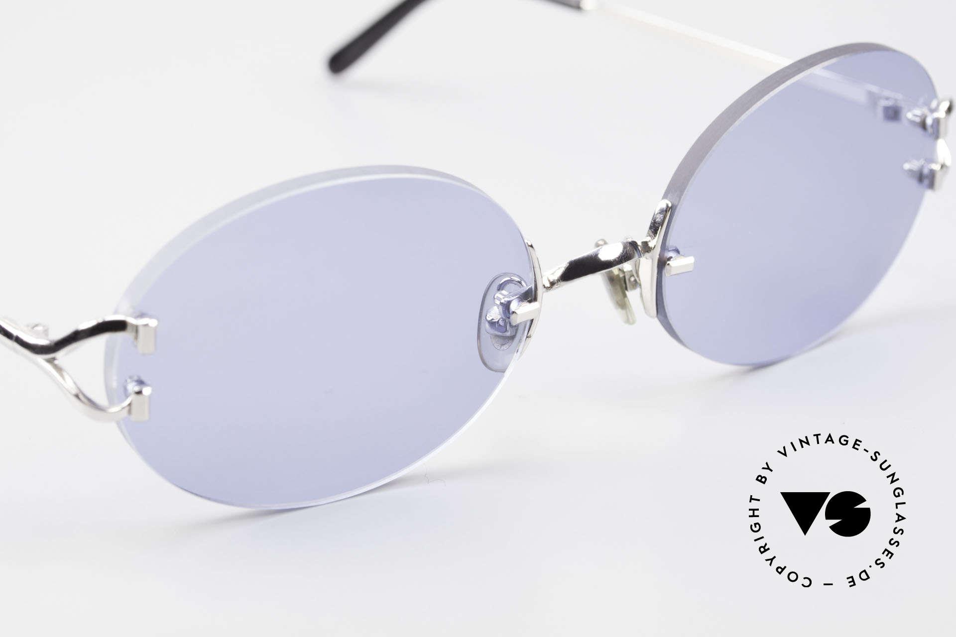 Cartier Rimless Giverny Ovale Randlose Luxusbrille, 2.hand Modell im neuwertigen Zustand + Cartier Box, Passend für Herren und Damen