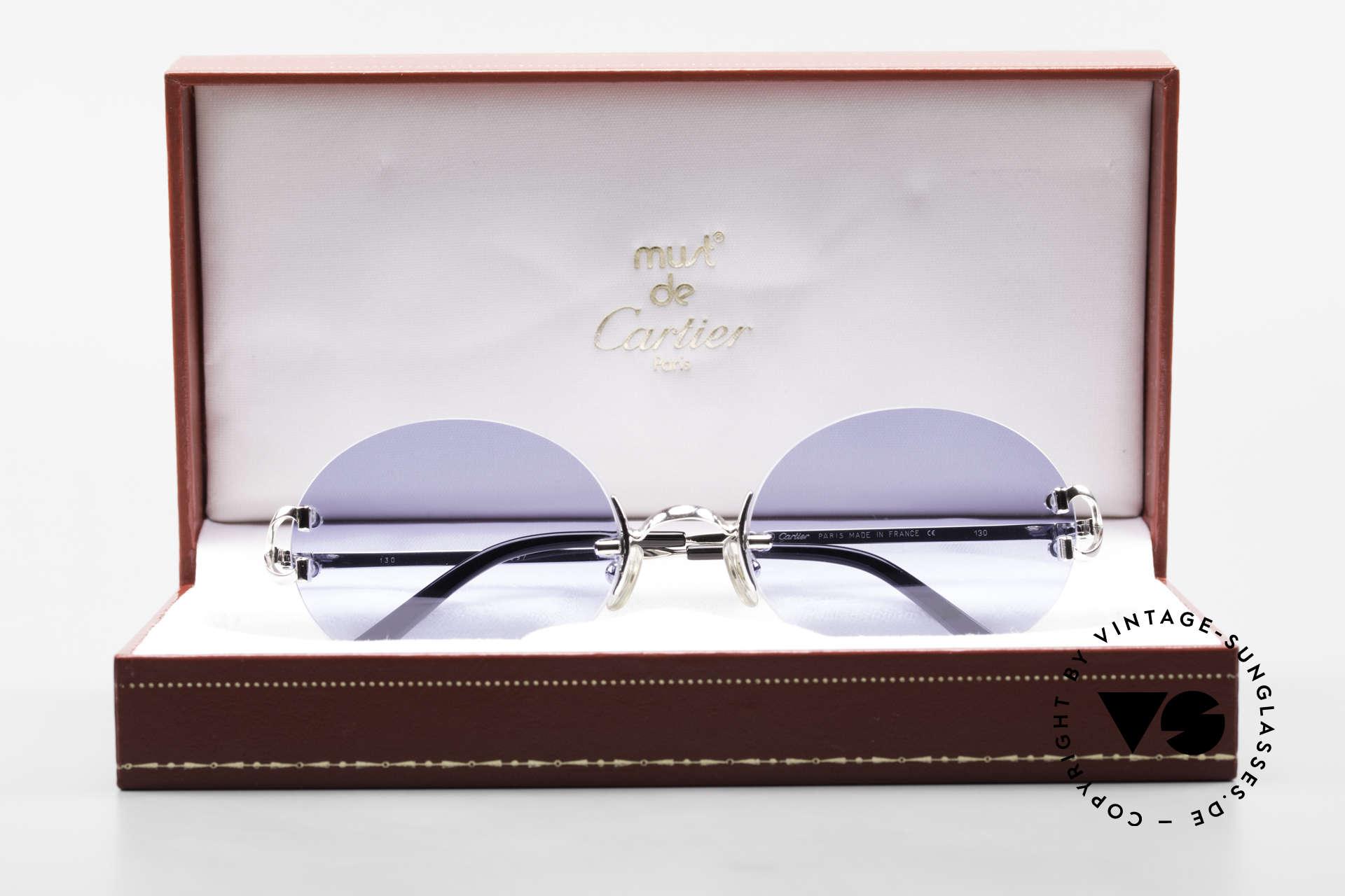 Cartier Rimless Giverny Ovale Randlose Luxusbrille, Customized = ein Einzelstück von unserem Optiker!, Passend für Herren und Damen