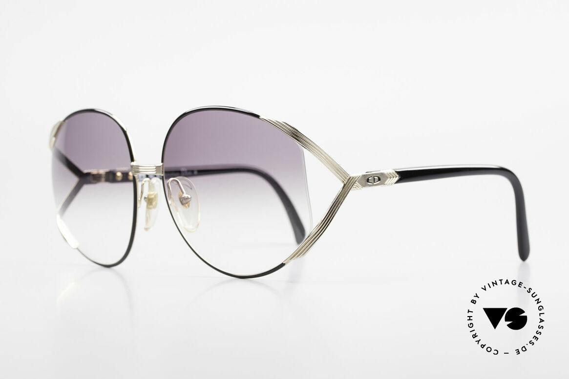 Christian Dior 2250 XL Sonnenbrille 80er Damen, kostbares 80er Modell mit Dior Etui und extra Gläsern, Passend für Damen