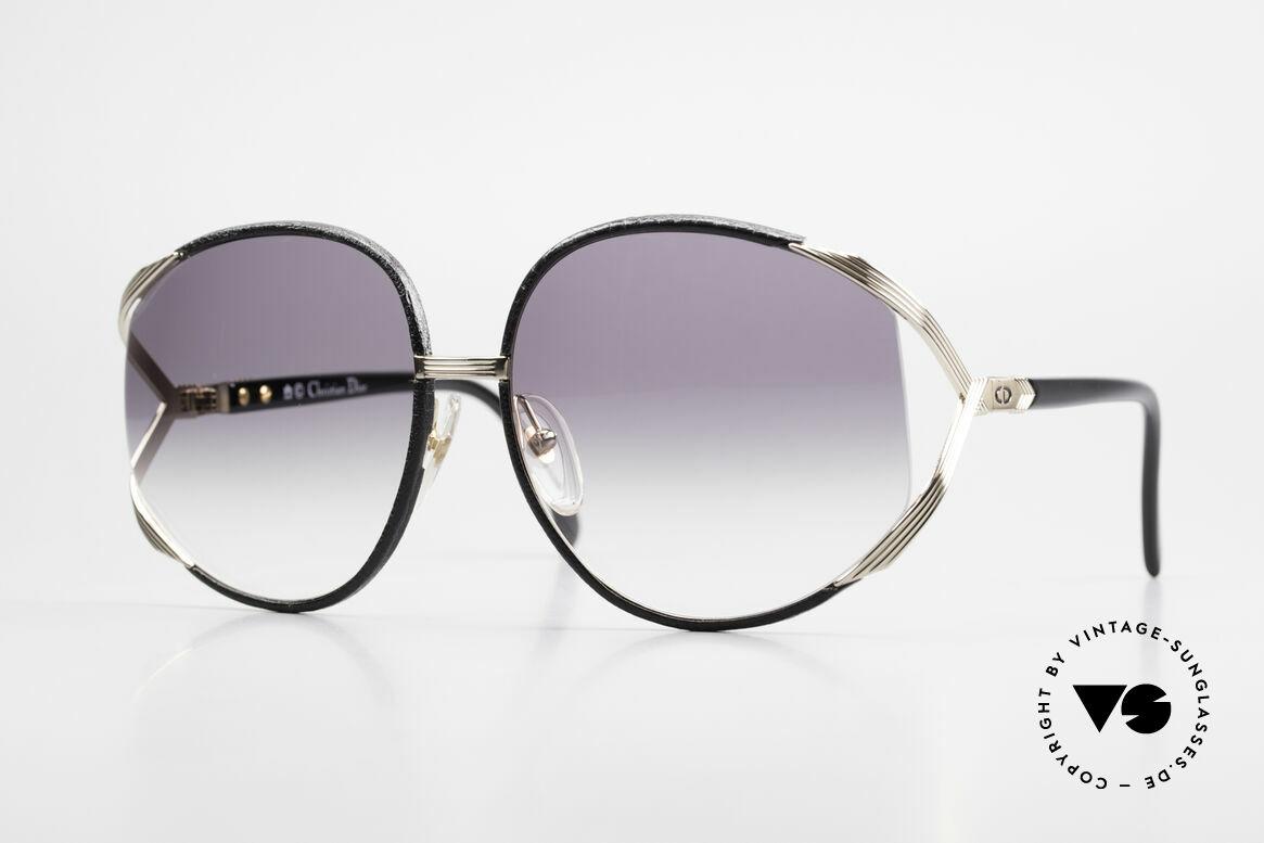Christian Dior 2250 Rihanna Sonnenbrille Leder, übergroße XL vintage Damen-Sonnenbrille von C. Dior, Passend für Damen