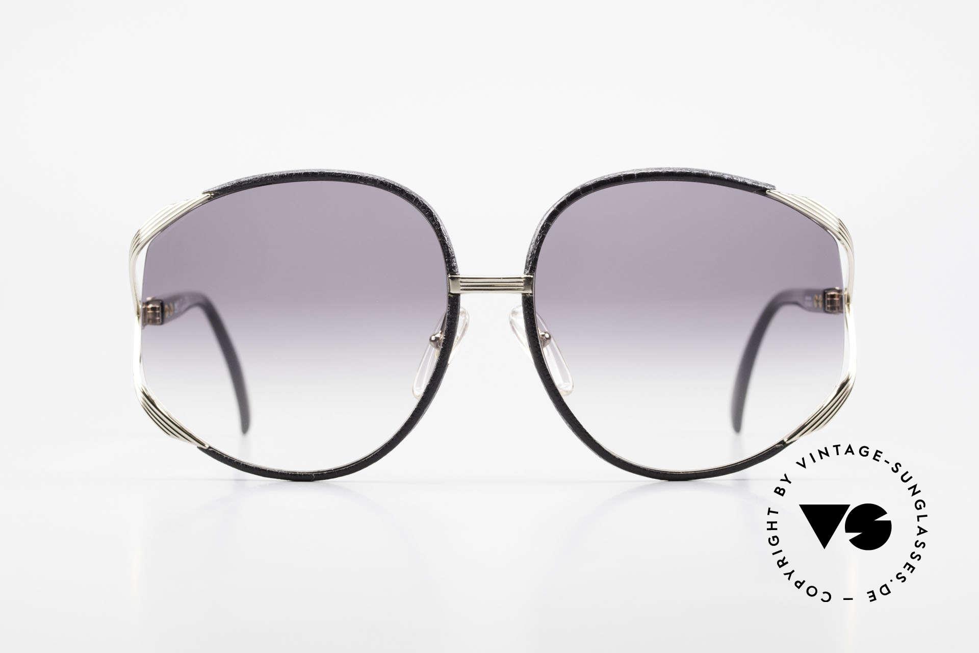 Christian Dior 2250 Rihanna Sonnenbrille Leder, sehr feminines, elegantes Design mit riesigen Gläsern, Passend für Damen