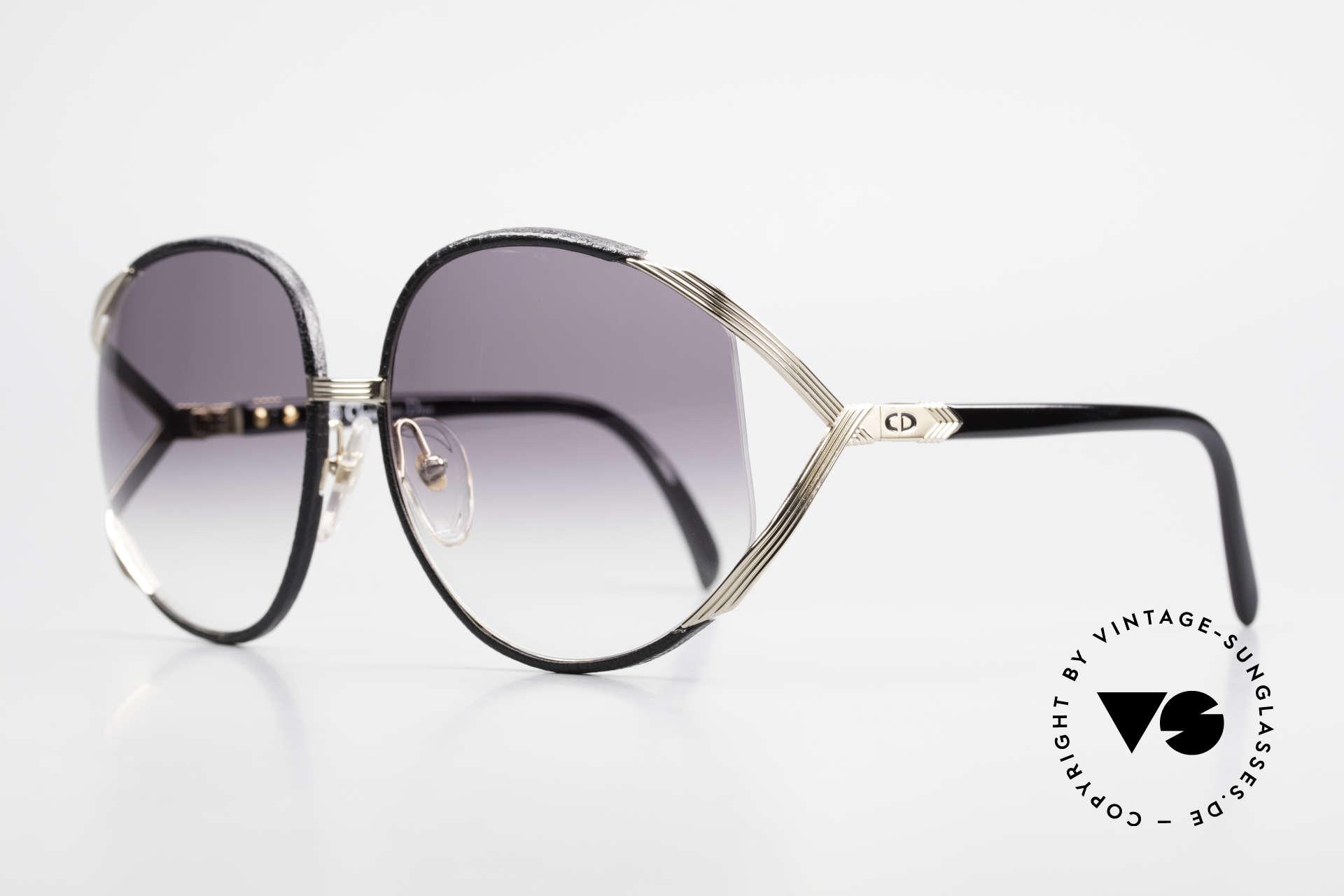 Christian Dior 2250 Rihanna Sonnenbrille Leder, kostbares 80er Modell in einzigartiger LEDER EDITION, Passend für Damen