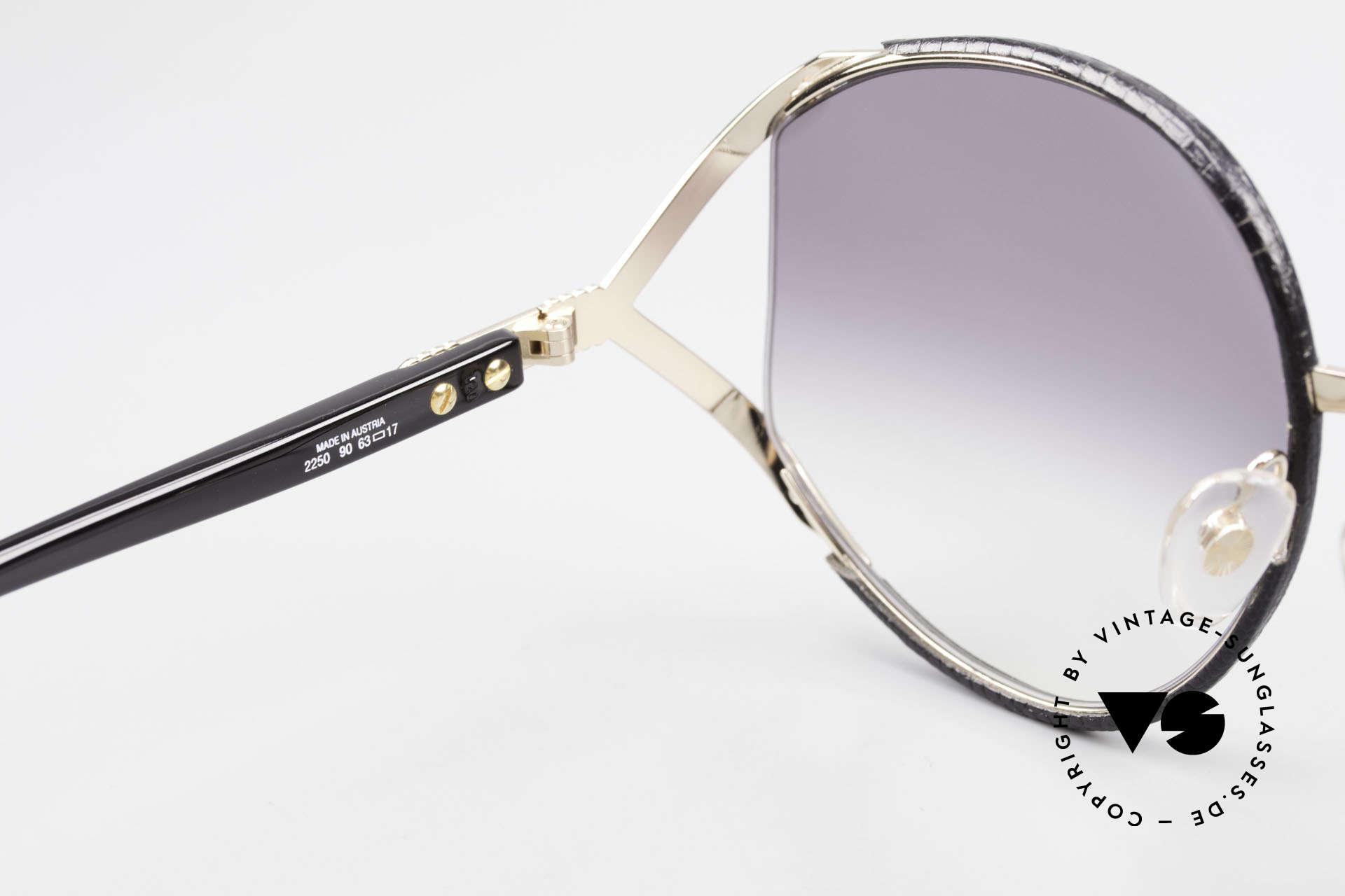 Christian Dior 2250 Rihanna Sonnenbrille Leder, ungetragenes Unikat + Dior Etui & 1 Paar extra Gläser!, Passend für Damen