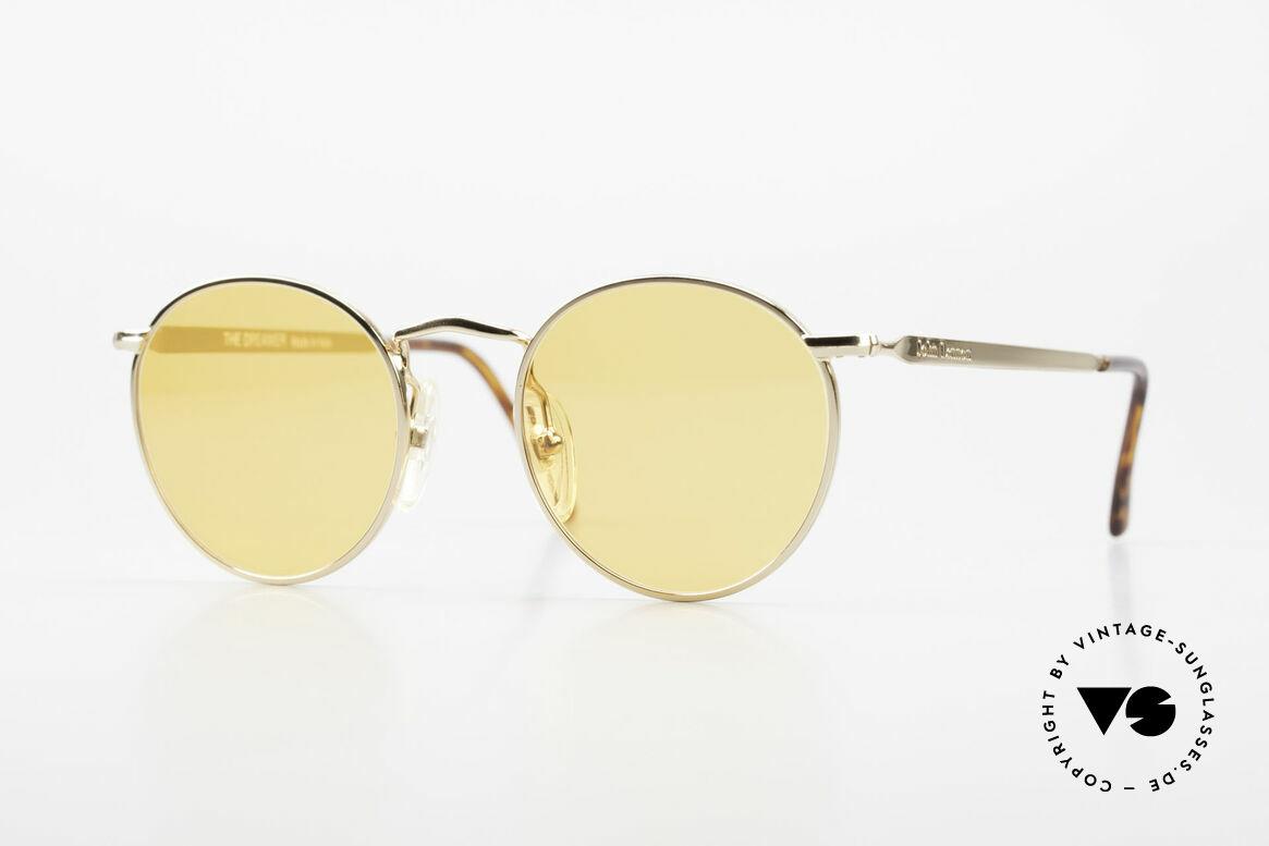 John Lennon - The Dreamer Sehr Kleine Runde Sonnenbrille, vintage Brille der original 'John Lennon Collection', Passend für Herren und Damen