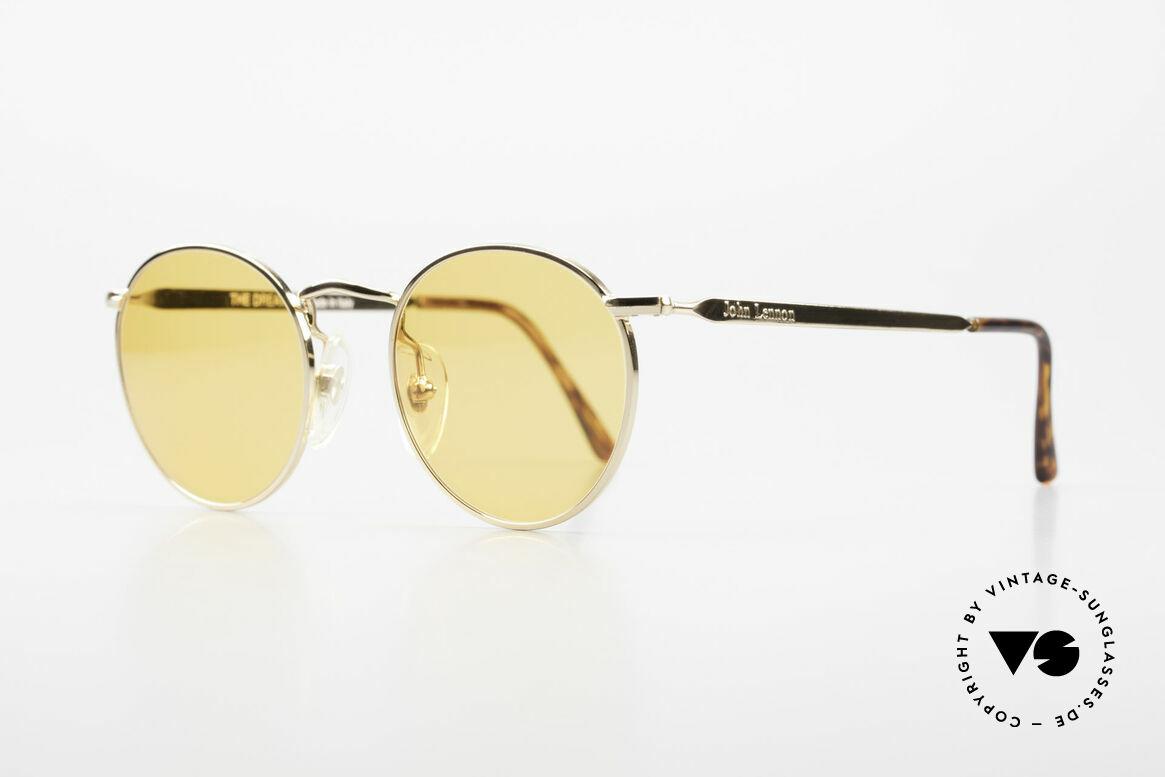 John Lennon - The Dreamer Sehr Kleine Runde Sonnenbrille, benannt nach bekannten J. Lennon / Beatles Songs, Passend für Herren und Damen