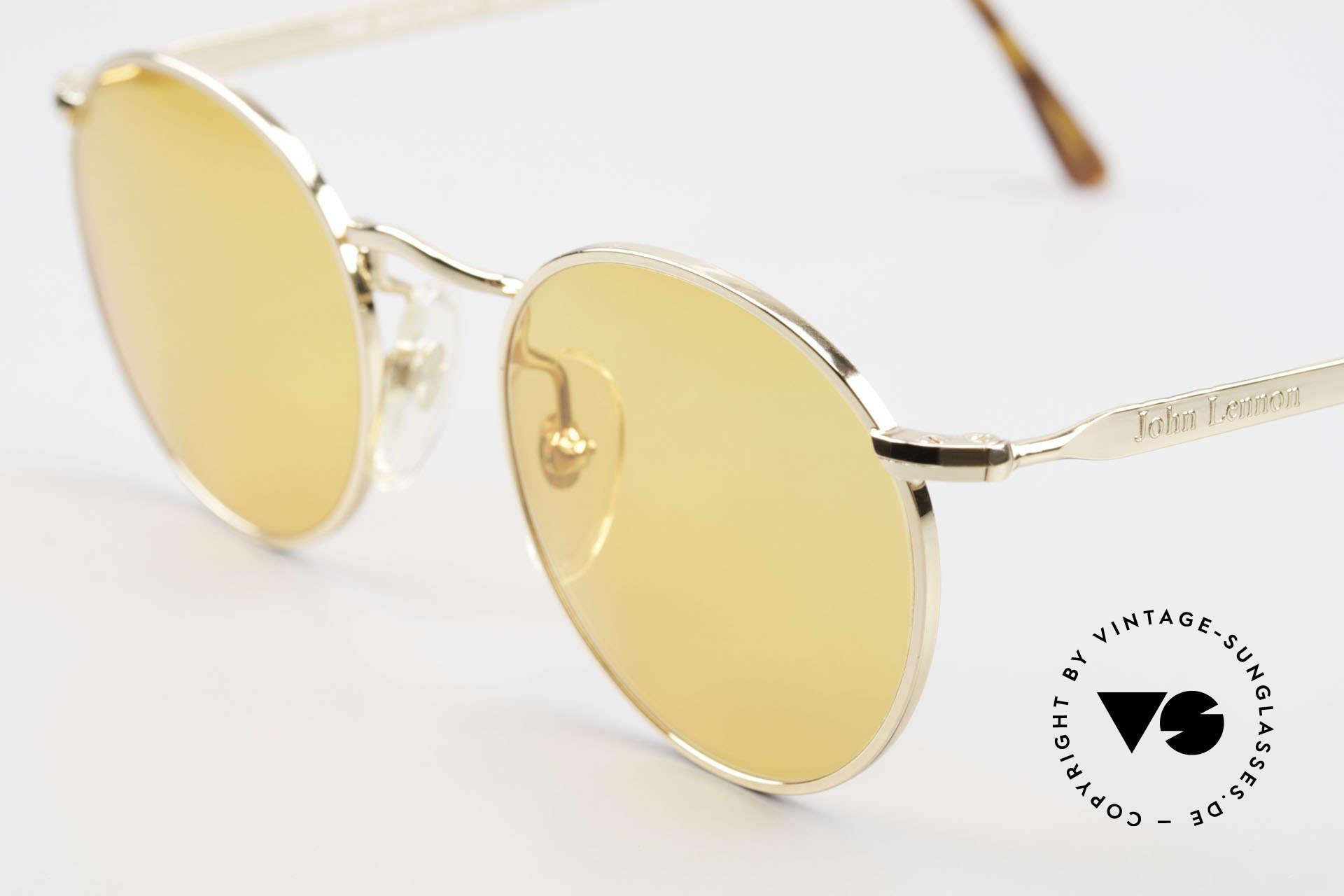 John Lennon - The Dreamer Sehr Kleine Runde Sonnenbrille, orange Gläser: auch abends / bei Dämmerung tragbar, Passend für Herren und Damen