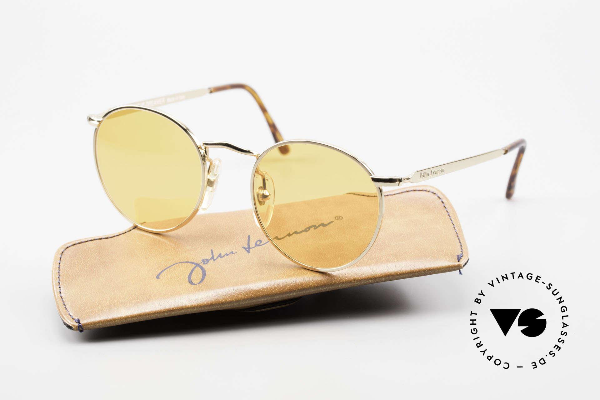 John Lennon - The Dreamer Sehr Kleine Runde Sonnenbrille, 118mm Breite = EINE SEHR KLEINE Fassung; 47mm, Passend für Herren und Damen