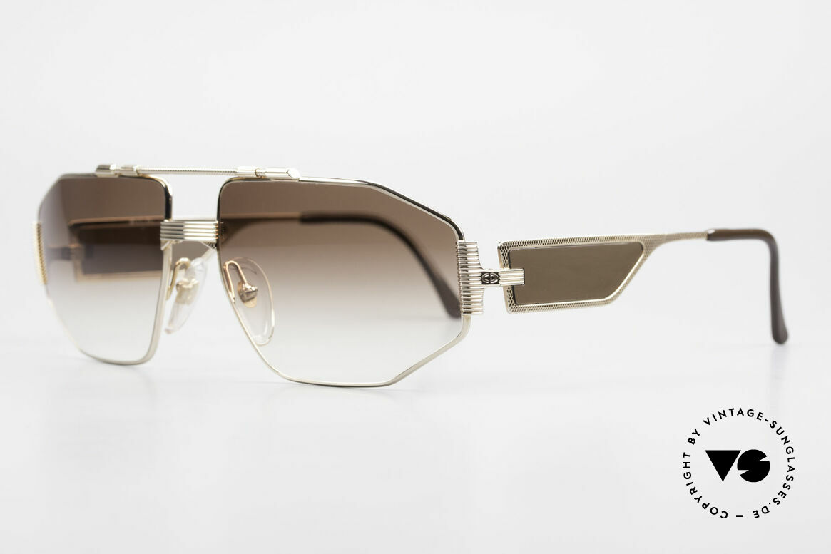 Christian Dior 2427 80er Monsieur Sonnenbrille, Luxus-Sonnenbrille; die Fassung ist voll vergoldet, Passend für Herren