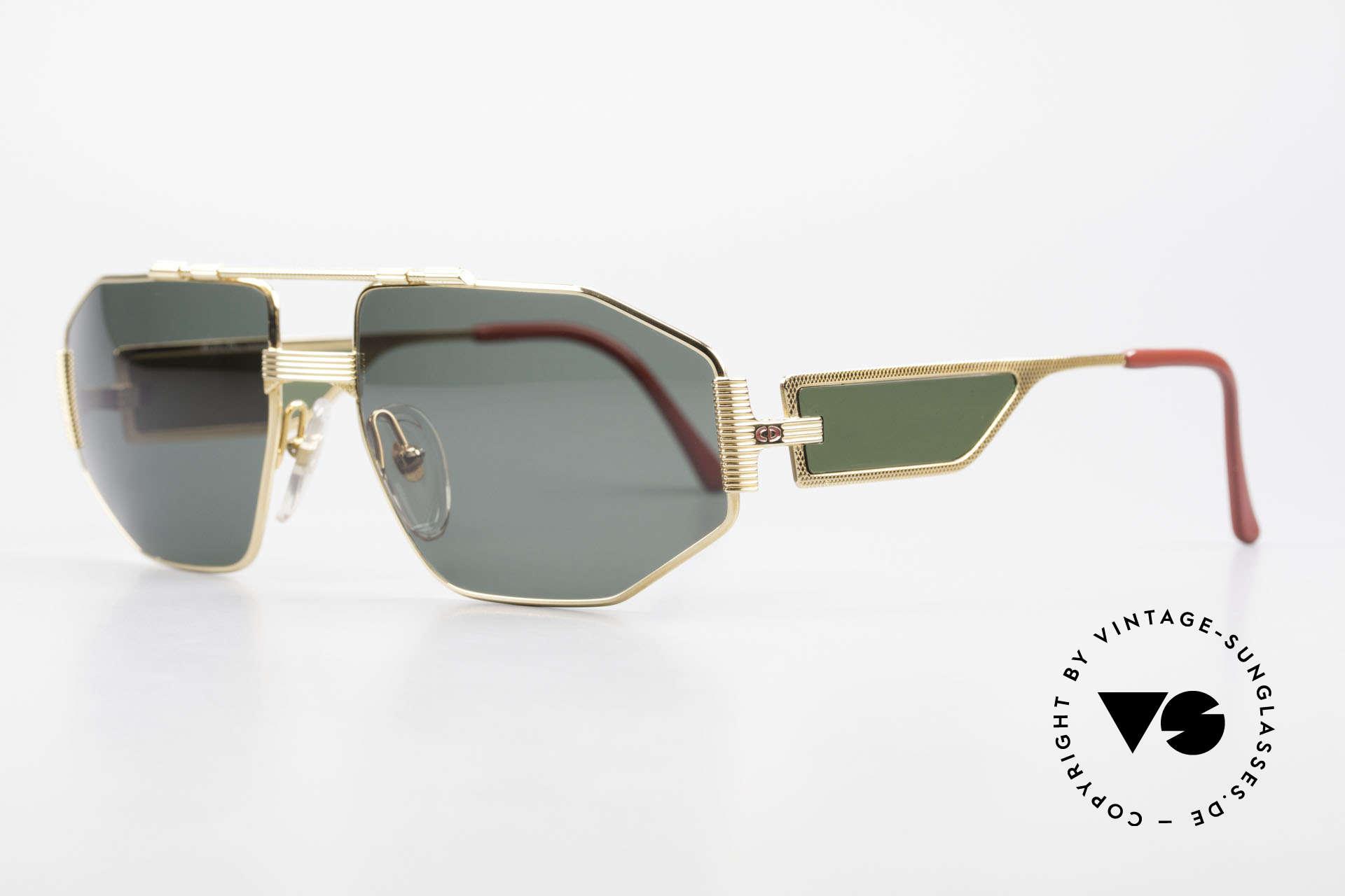 Christian Dior 2427 Monsieur Sonnenbrille 80er, Luxus-Sonnenbrille; die Fassung ist voll vergoldet, Passend für Herren