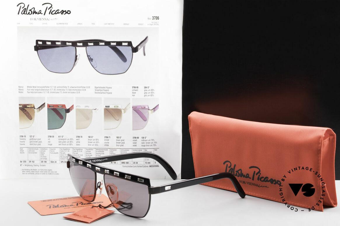 Paloma Picasso 3706 Damen Sonnenbrille Kristall, Größe: medium, Passend für Damen