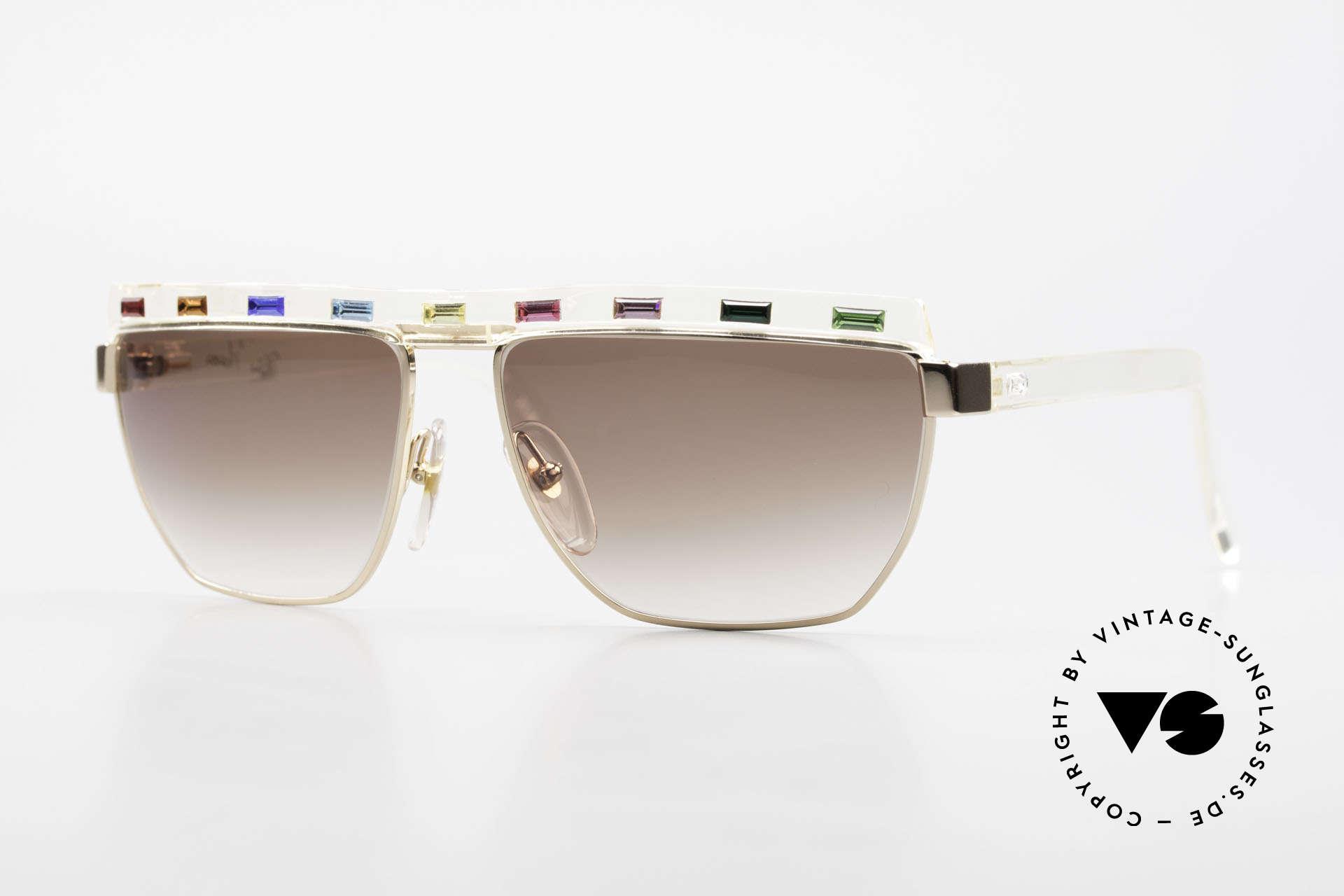 Paloma Picasso 3706 Farben Sämtlicher Edelsteine, Damen Designersonnenbrille von Paloma Picasso, Passend für Damen