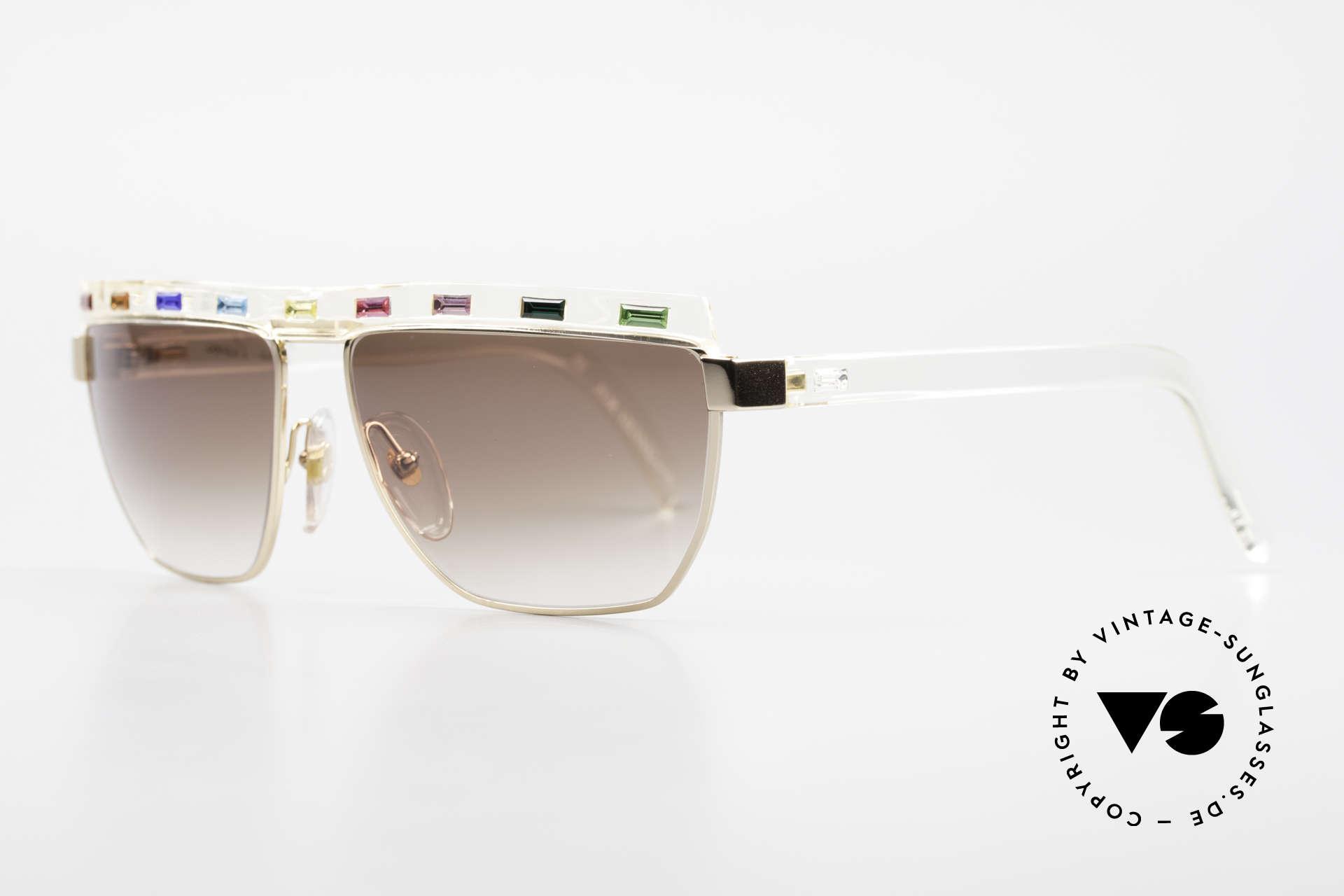 Paloma Picasso 3706 Farben Sämtlicher Edelsteine, sie entwarf 1990 diese großartige Brillenkollektion, Passend für Damen