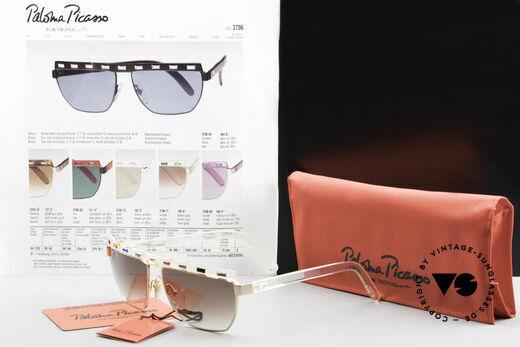 Paloma Picasso 3706 Farben Sämtlicher Edelsteine, ungetragen (wie alle unsere vintage Sonnenbrillen), Passend für Damen