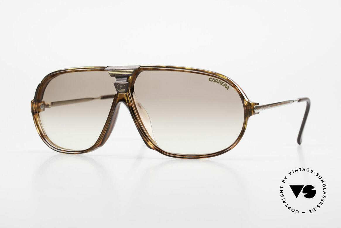 Carrera 5416 80er Brille Mit Wechselgläsern, sensationelle Carrera Sportsonnenbrille von 1988, Passend für Herren