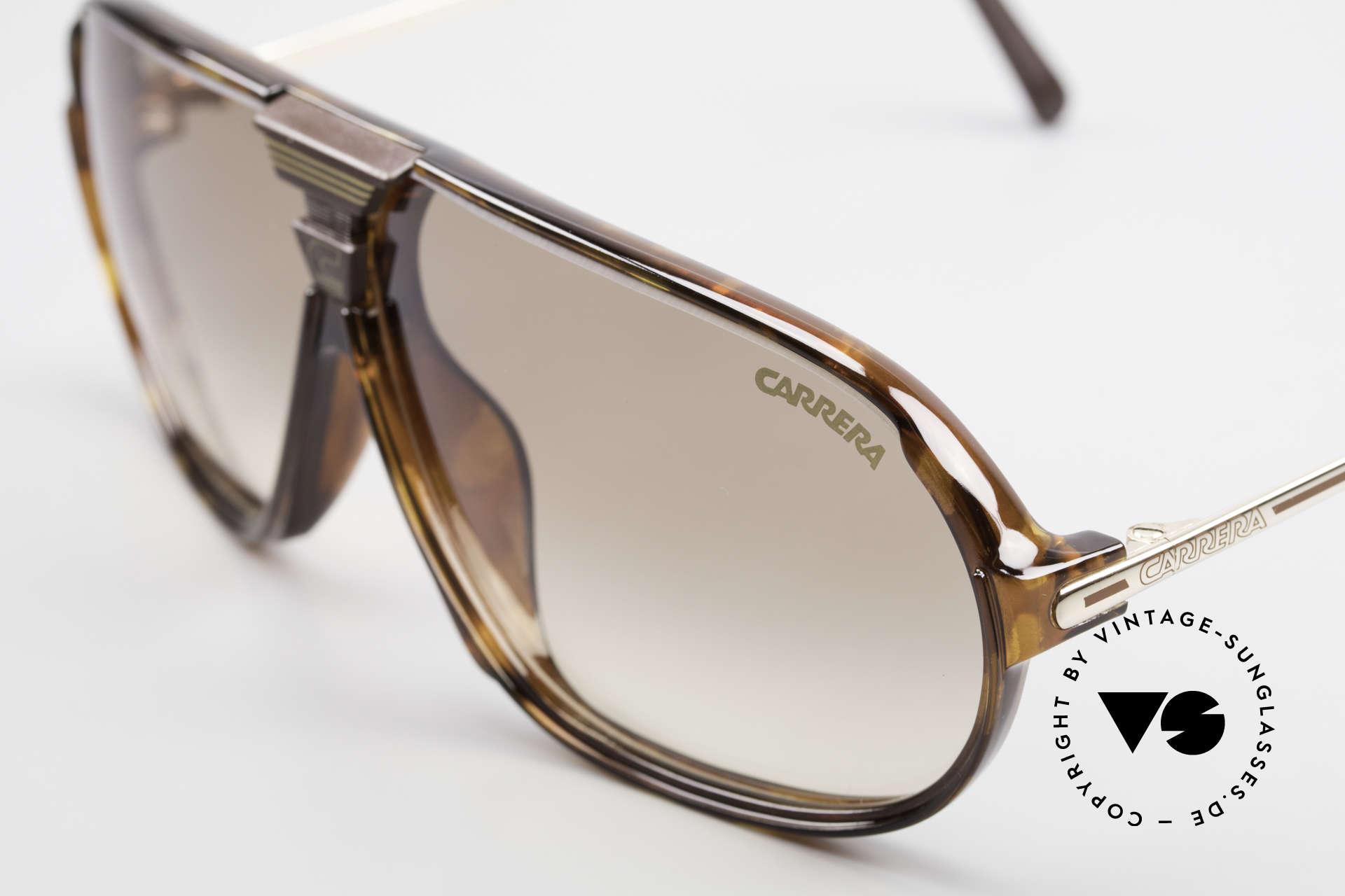 Carrera 5416 80er Brille Mit Wechselgläsern, 1x braun Verlauf sowie 1x braun-silber verspiegelt, Passend für Herren
