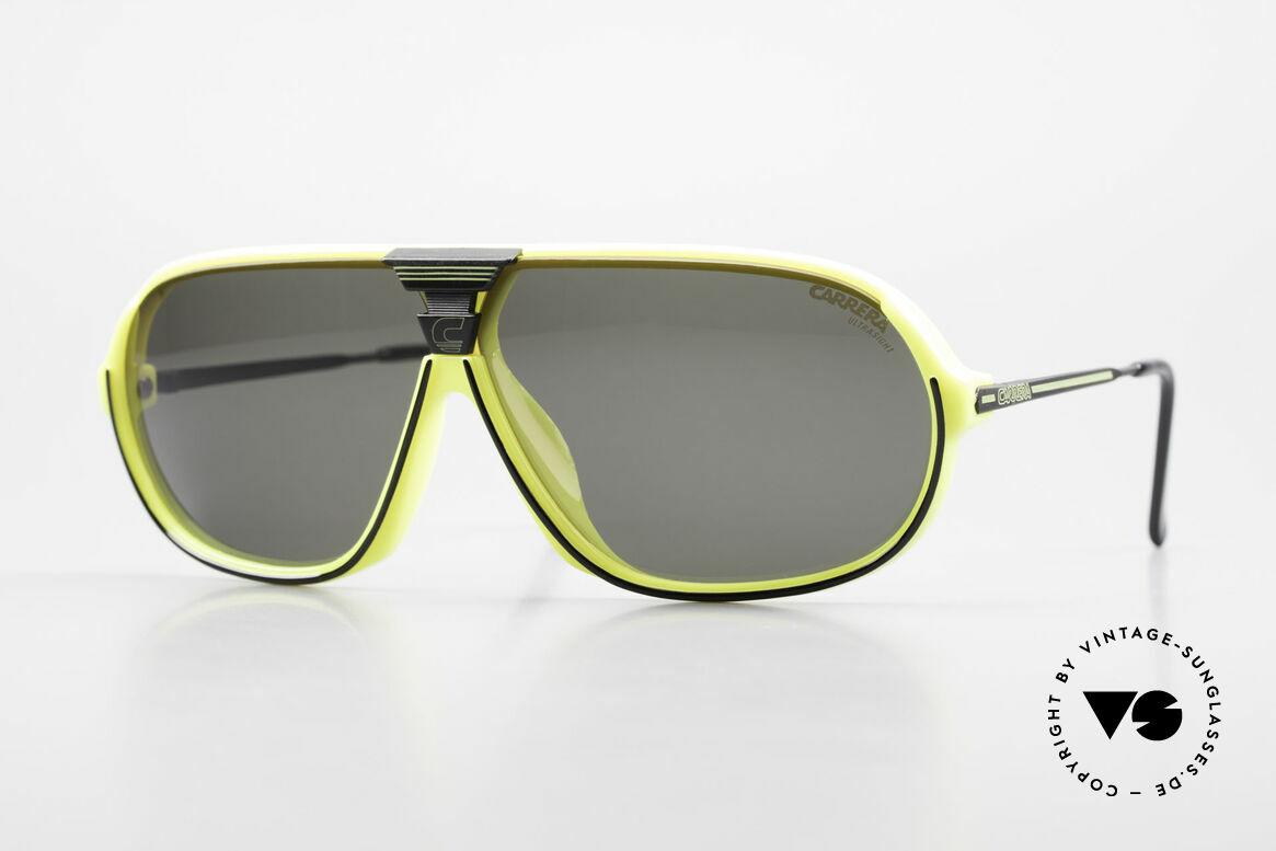 Carrera 5416 80's Sonnenbrille Polarisierend, sensationelle Carrera Sportsonnenbrille von 1988, Passend für Herren