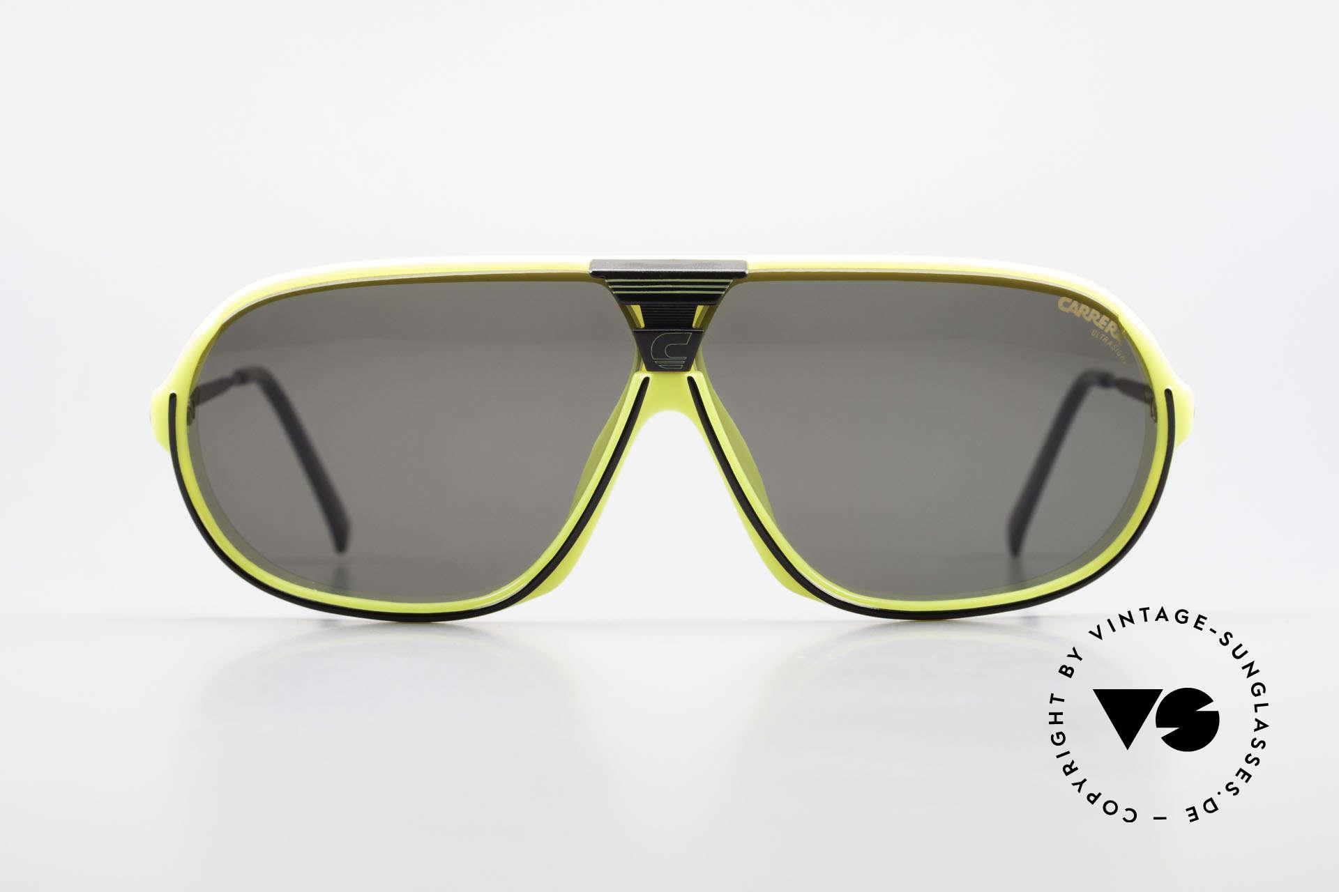Carrera 5416 80's Sonnenbrille Polarisierend, ultraleichter Rahmen aus genialem Optyl-Material, Passend für Herren
