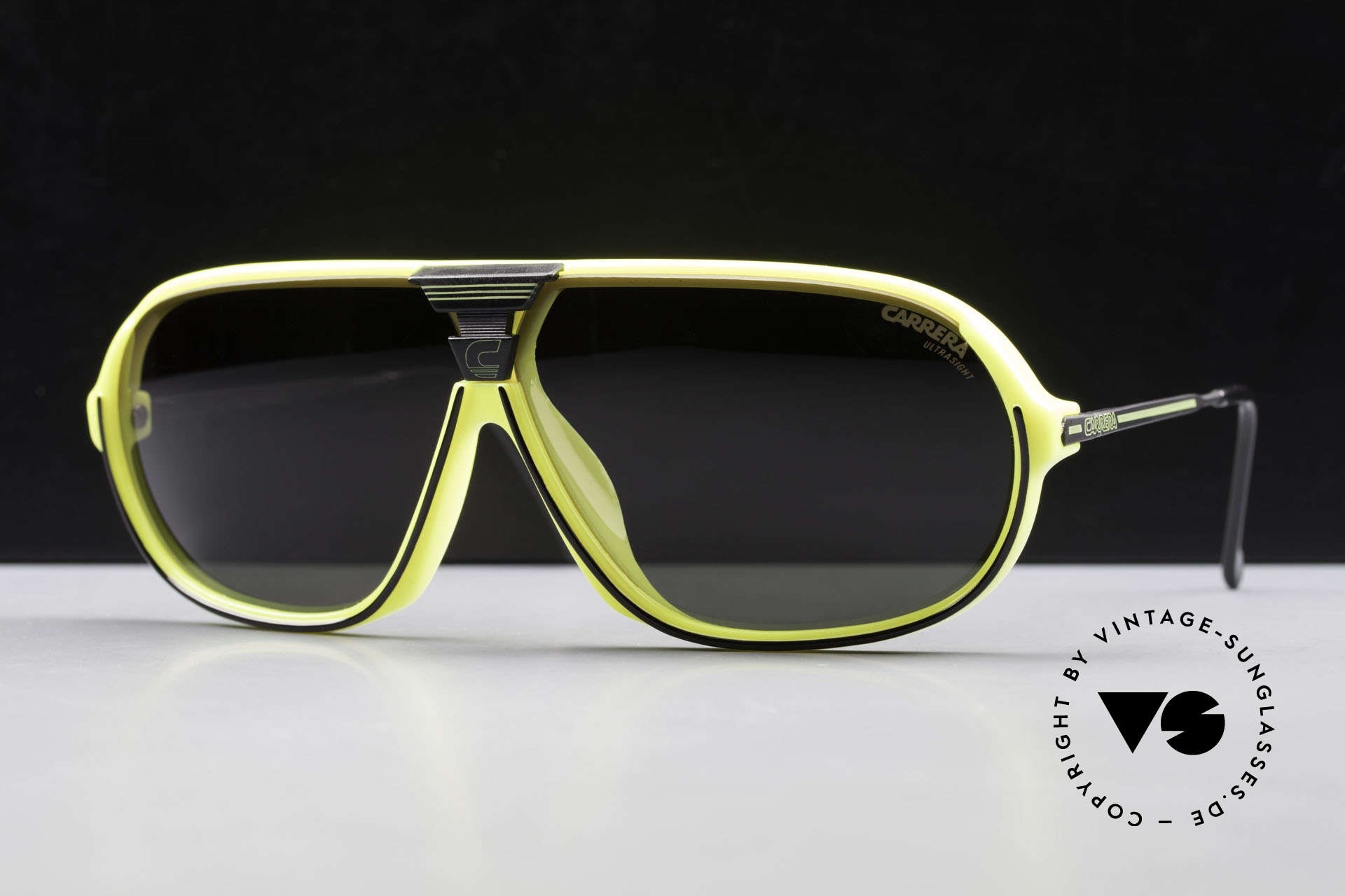 Carrera 5416 80's Sonnenbrille Polarisierend, mit Carrera Wechselgläsern & original Carrera Etui, Passend für Herren