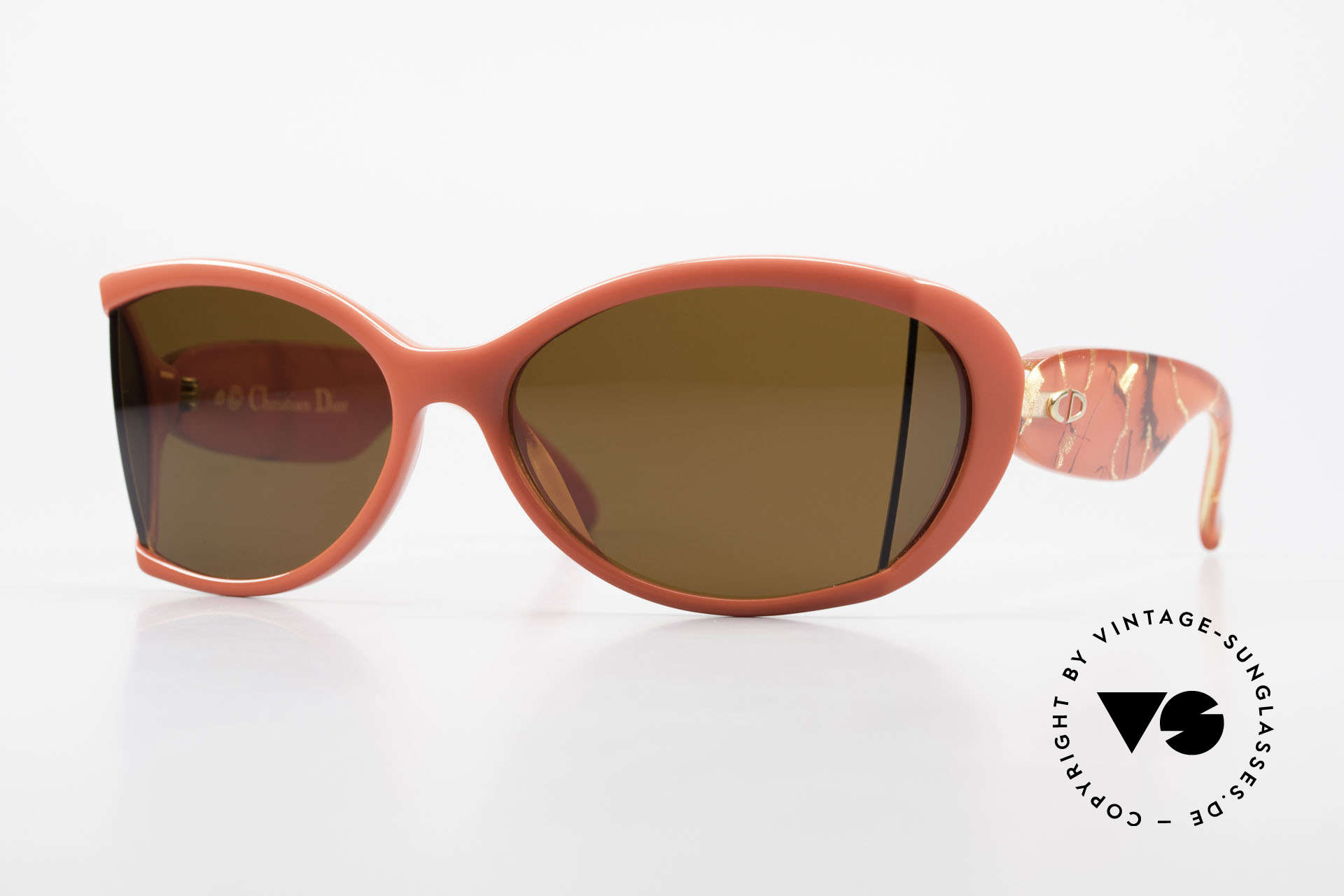 Christian Dior 2439 80s Sonnenbrille Seitenblenden, futuristische Chr. Dior Damensonnenbrille von 1989, Passend für Damen