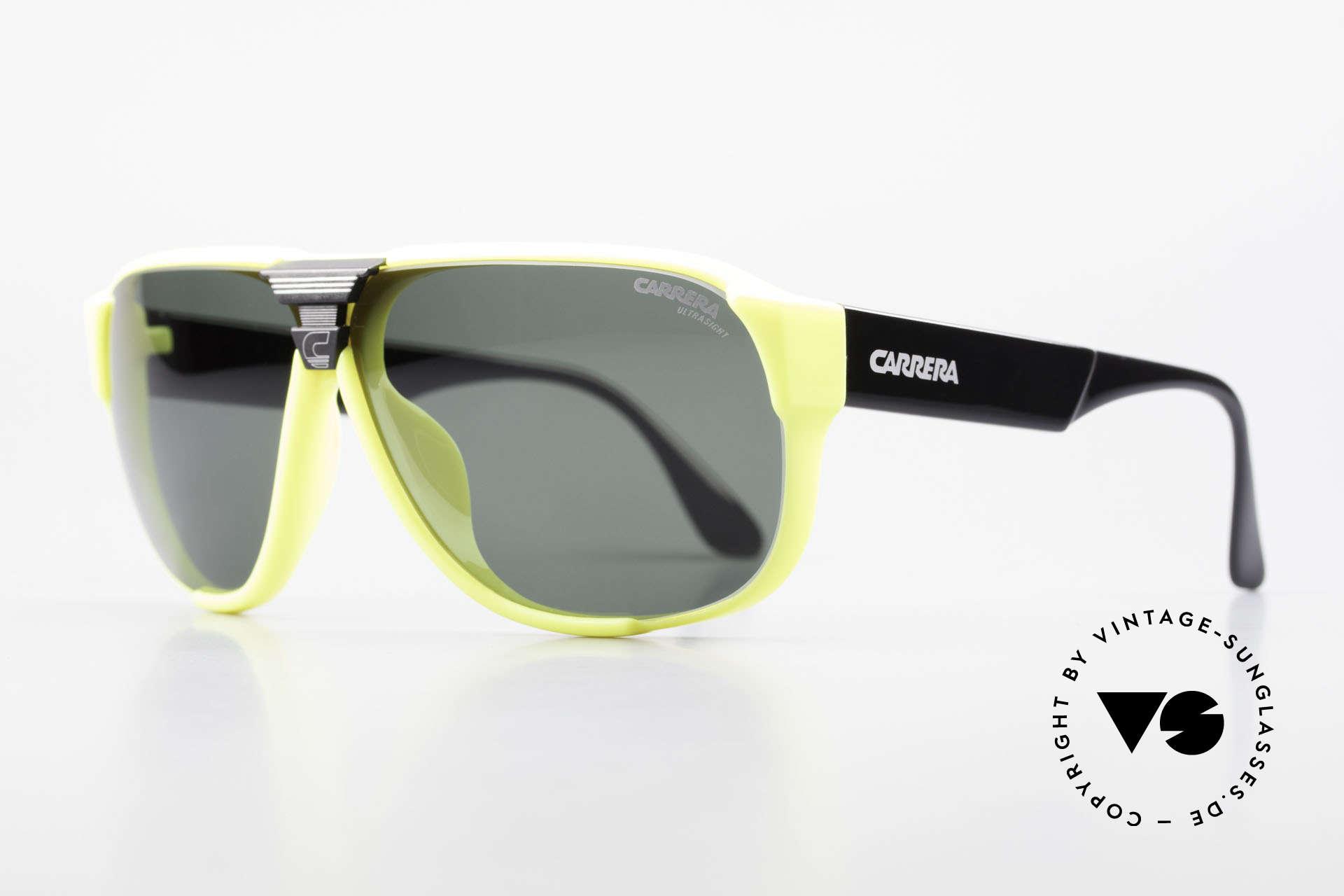 Carrera 5431 80er Sportsonnenbrille Alpin, mit Carrera Wechselgläsern & original Carrera Etui, Passend für Herren