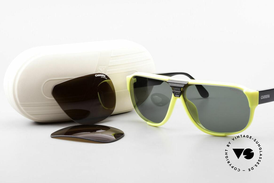 Carrera 5431 80er Sportsonnenbrille Alpin, Größe: medium, Passend für Herren