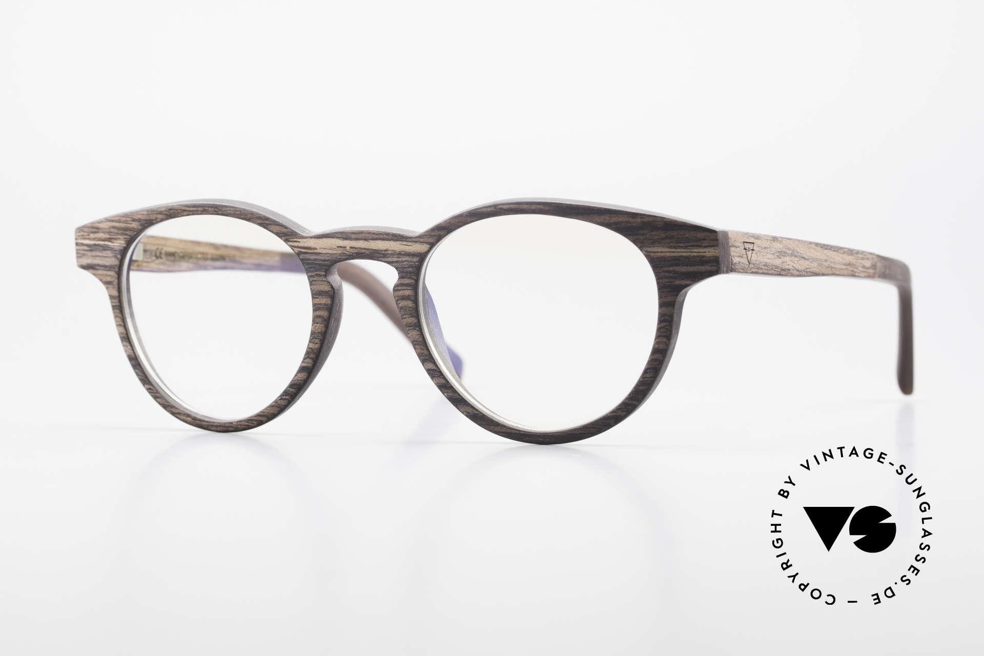 Kerbholz Friedrich Panto Holzbrille Kingwood, Echte Panto-Holzbrille von Kerbholz, made in Germany, Passend für Herren und Damen