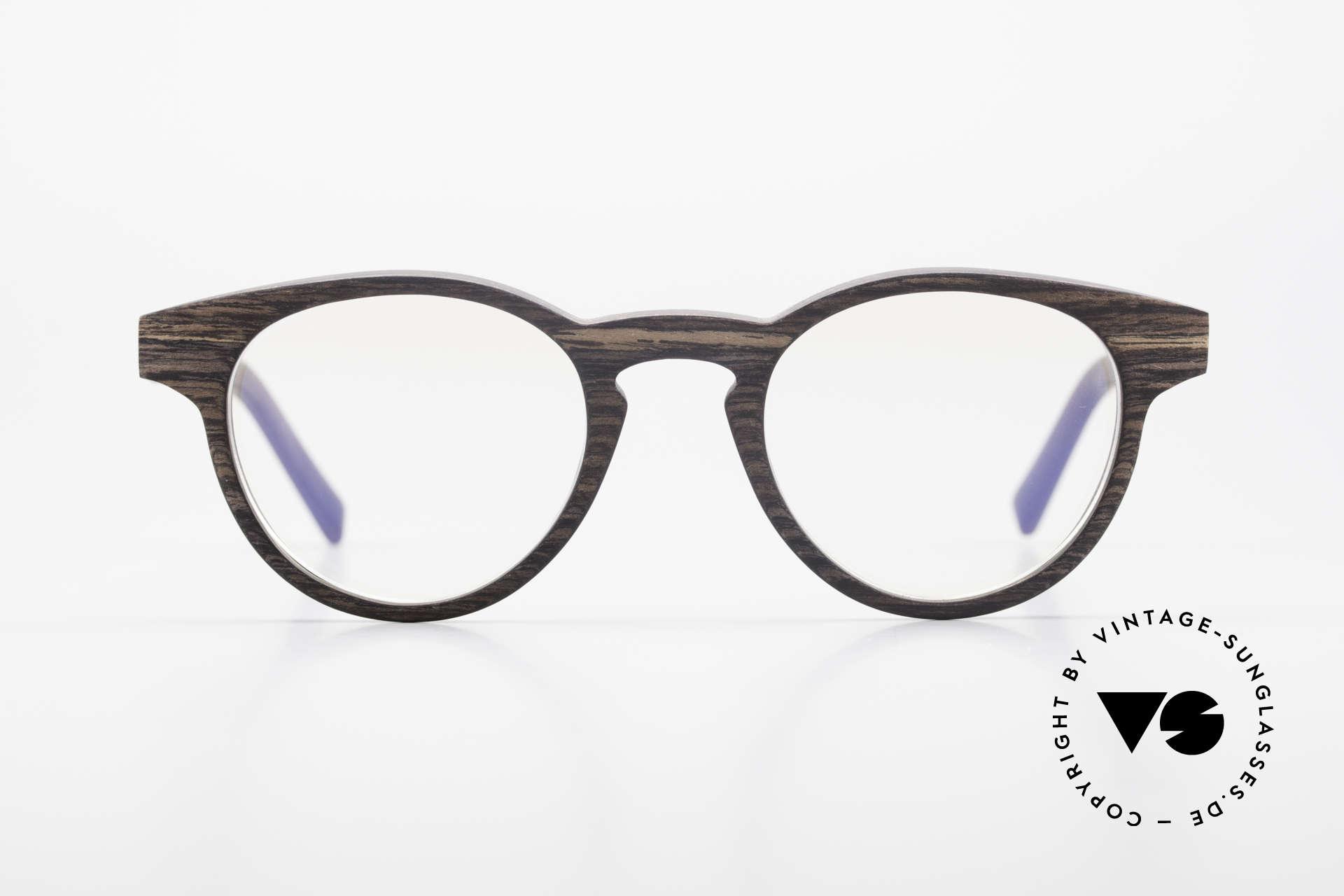Kerbholz Friedrich Panto Holzbrille Kingwood, aus Kingwood = Veilchenholz gemacht (aus Brasilien), Passend für Herren und Damen