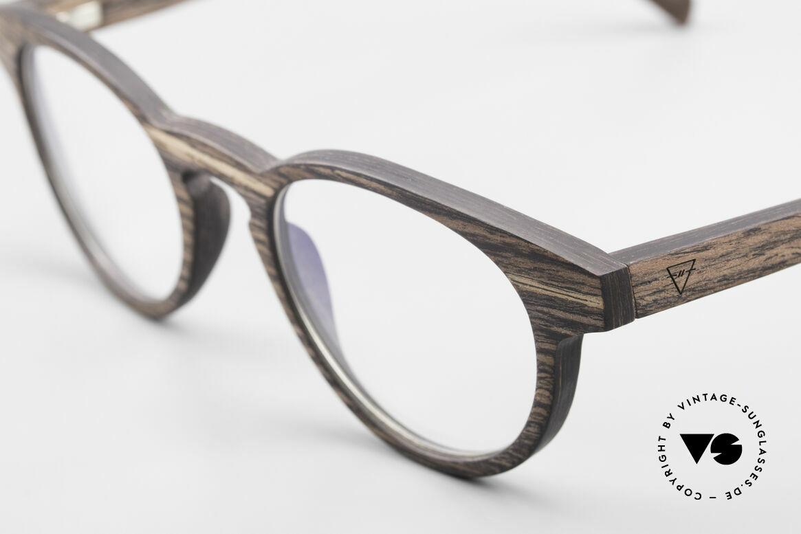 Kerbholz Friedrich Panto Holzbrille Kingwood, ein absolutes Unikat (zudem in Handarbeit gefertigt), Passend für Herren und Damen