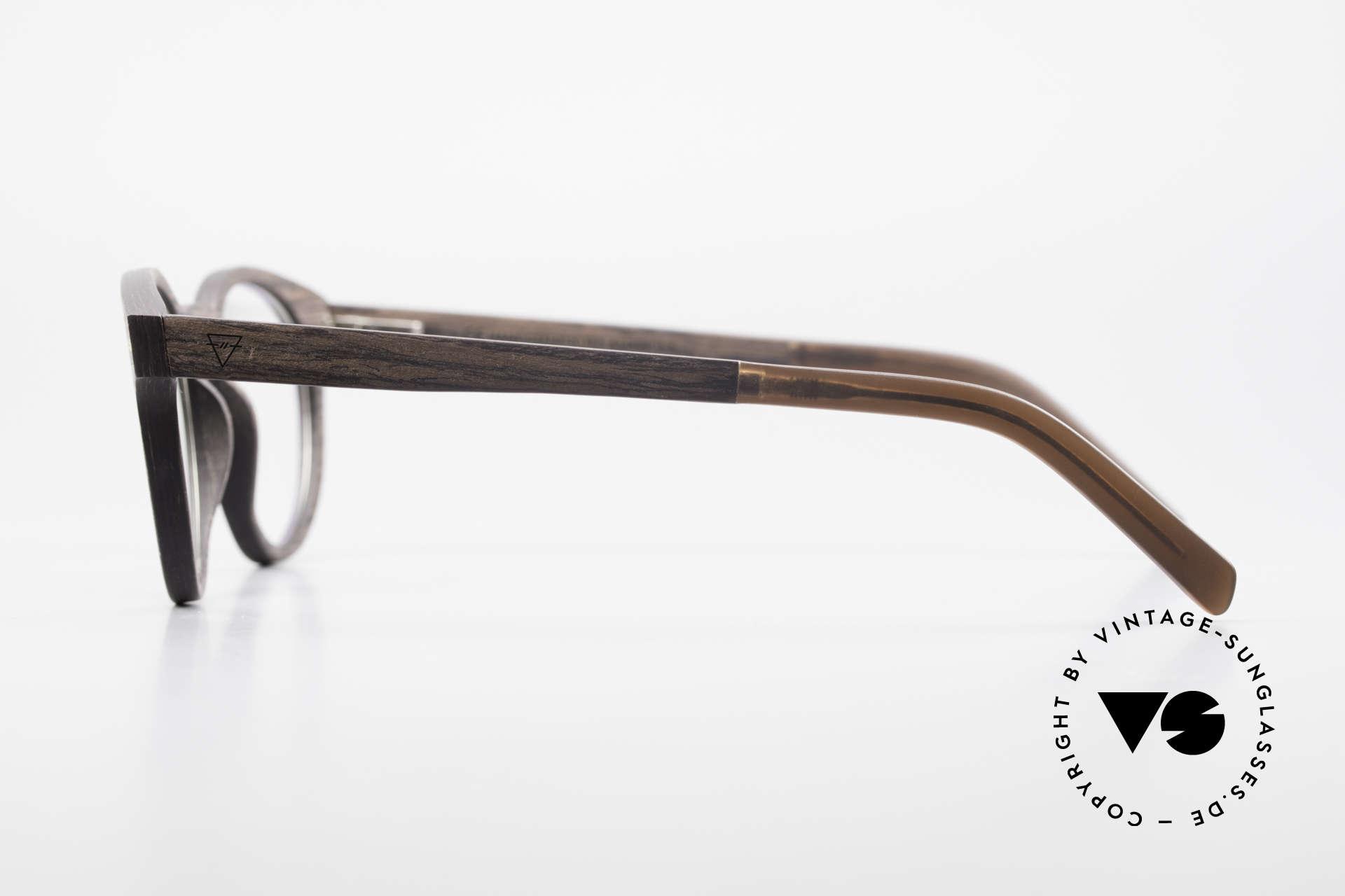 Kerbholz Friedrich Panto Holzbrille Kingwood, jedes Holz-Modell ist individuell (dank der Maserung), Passend für Herren und Damen